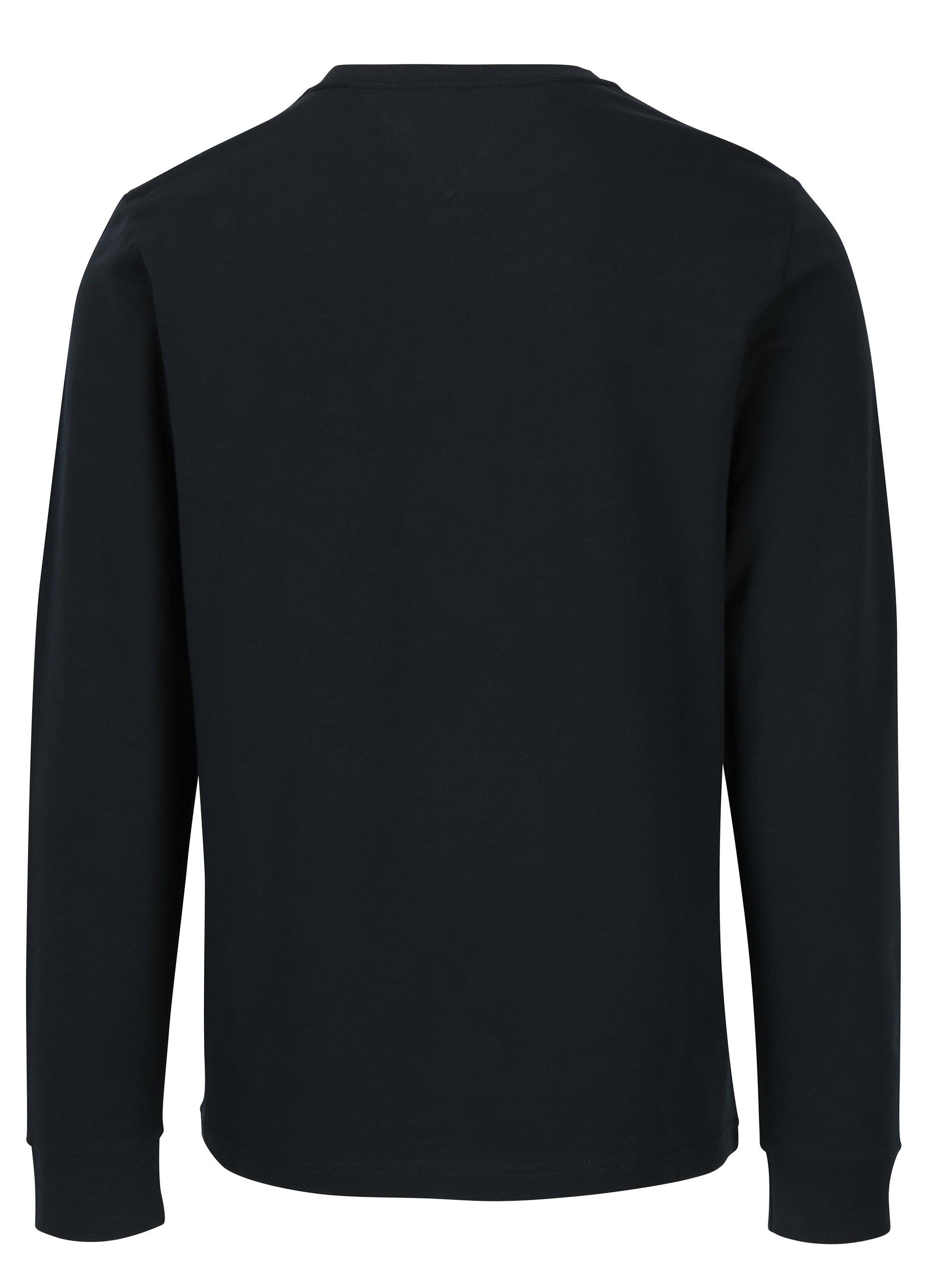 d4321e57fa Tmavomodré pánske tričko s dlhým rukávom a nášivkou Tommy Hilfiger Allen ...