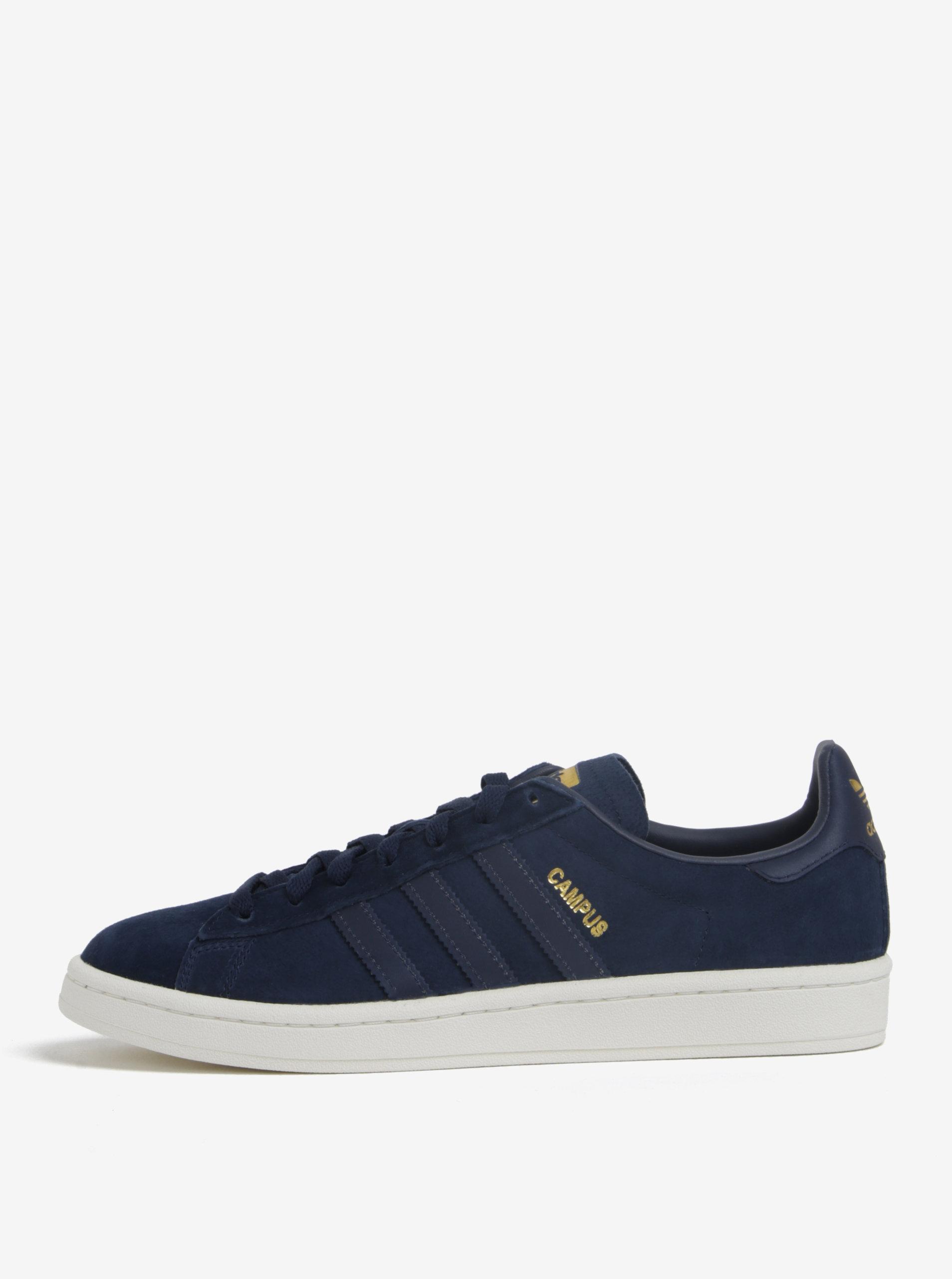 97e804d1a80 Tmavě modré pánské semišové tenisky adidas Originals Campus ...