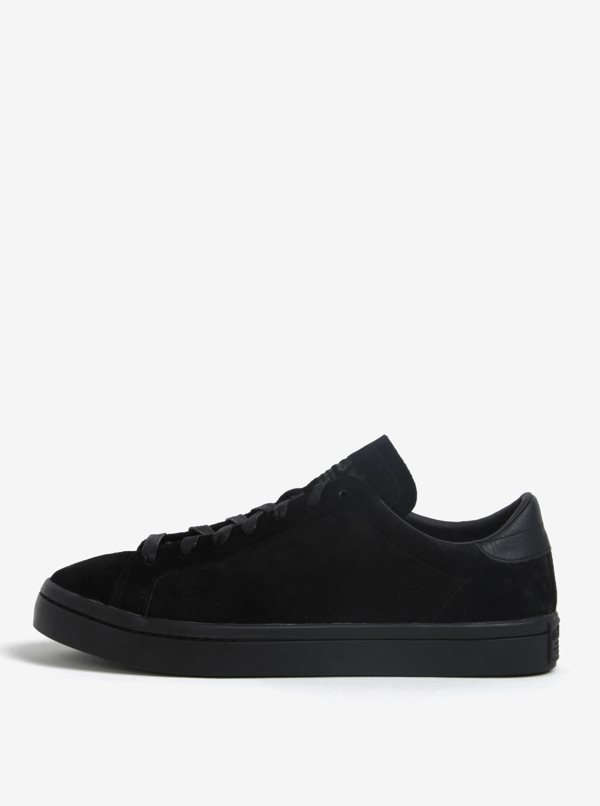 02950fca764 Černé pánské semišové tenisky adidas Originals Courtvantage ...