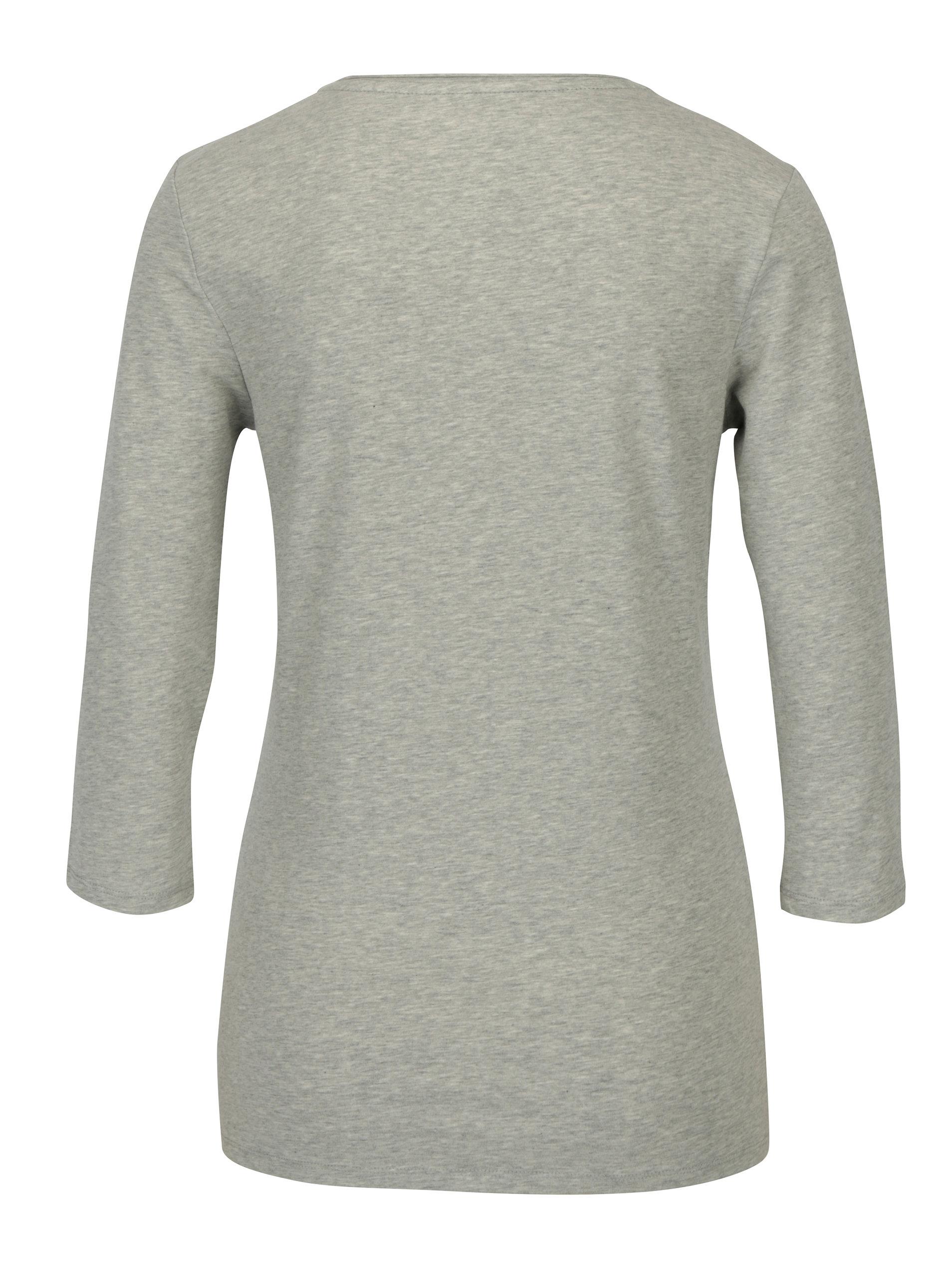 78b329b75 Sivé dámske tričko s 3/4 rukávom Tommy Hilfiger Lizzy | ZOOT.sk