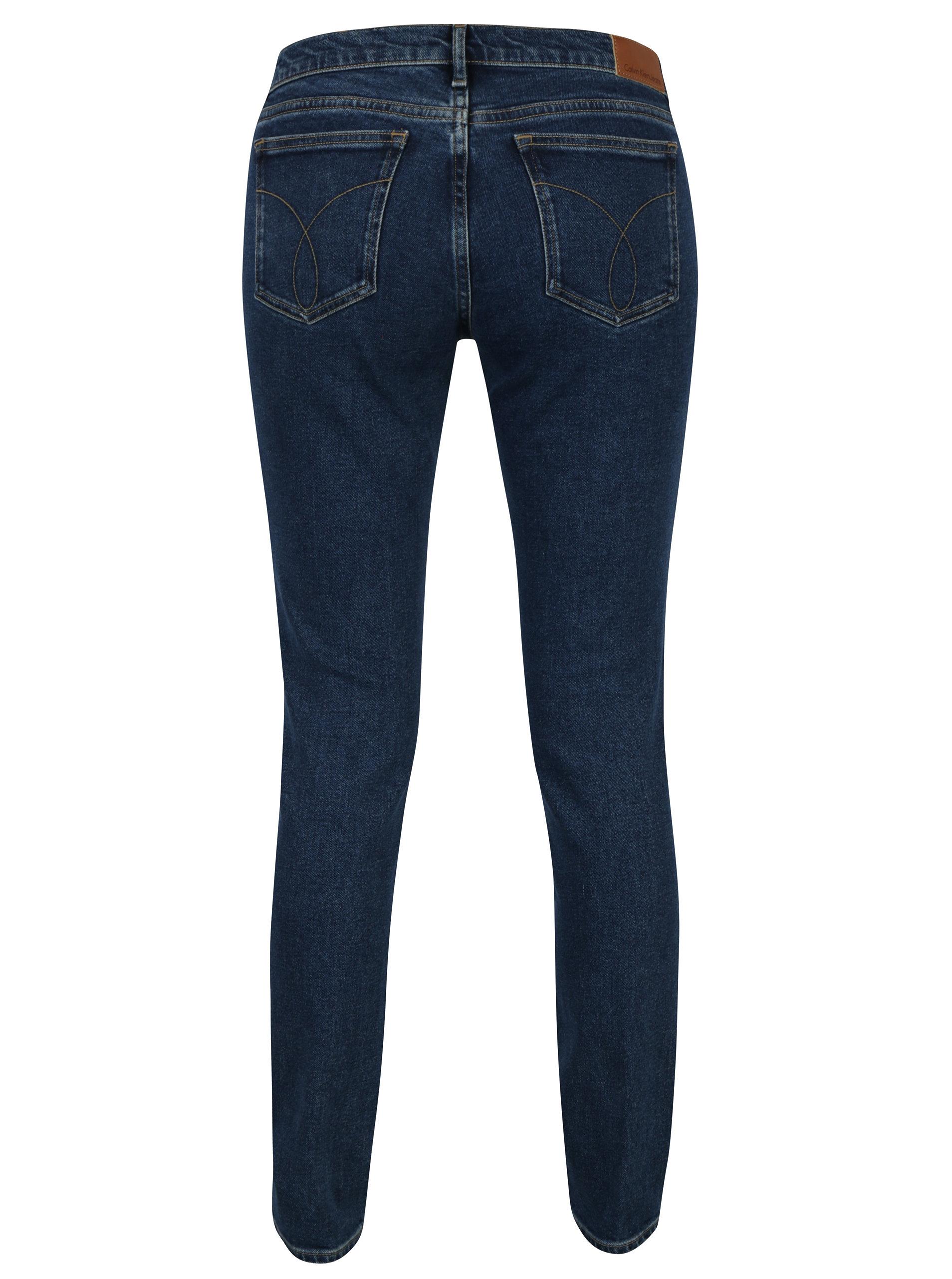 Tmavě modré dámské skinny džíny Calvin Klein Jeans Rise ... f8d63d72f6