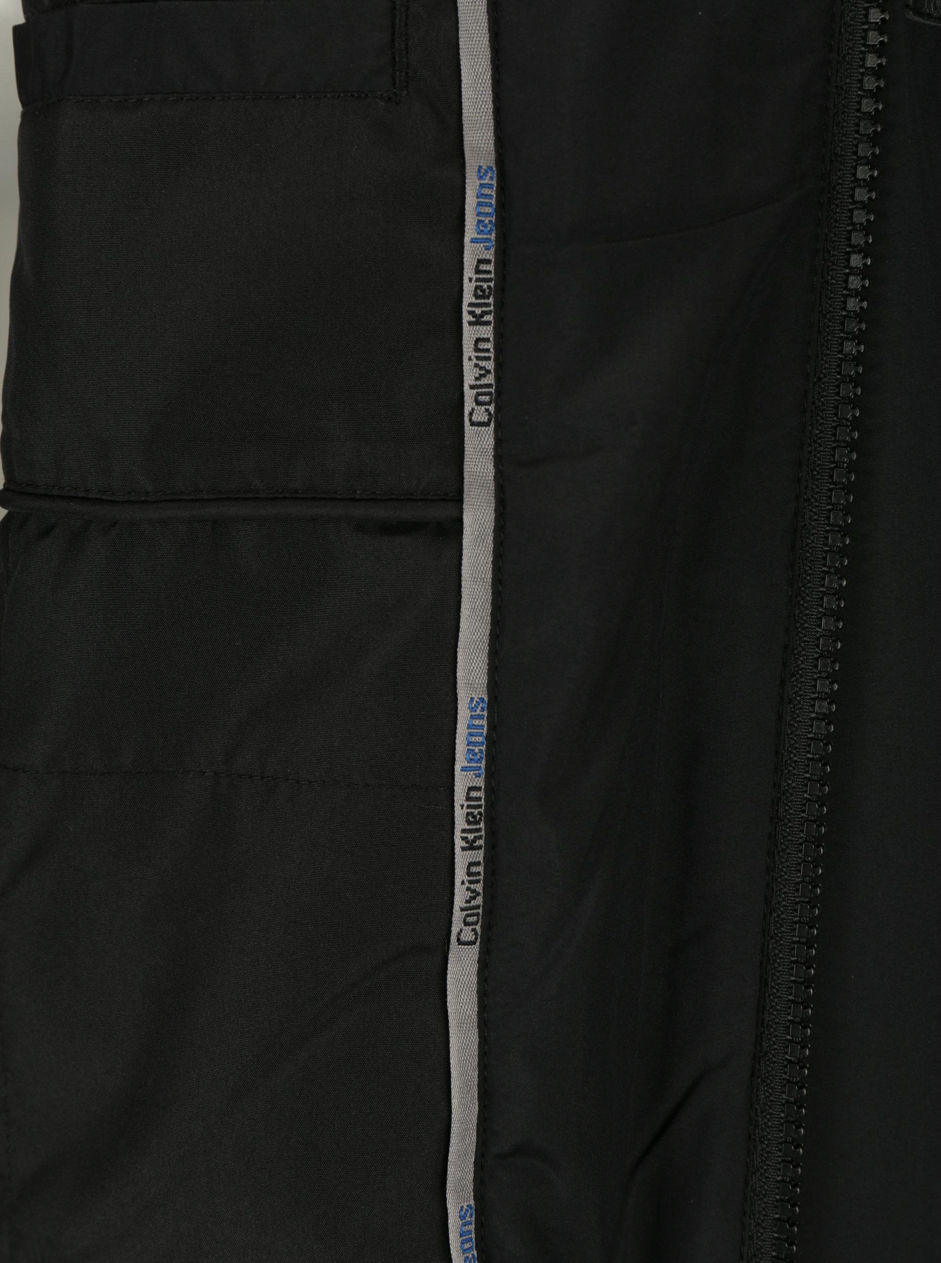 Černá pánská bunda s kapucí Calvin Klein Jeans Ondo ... a67ce8a1865