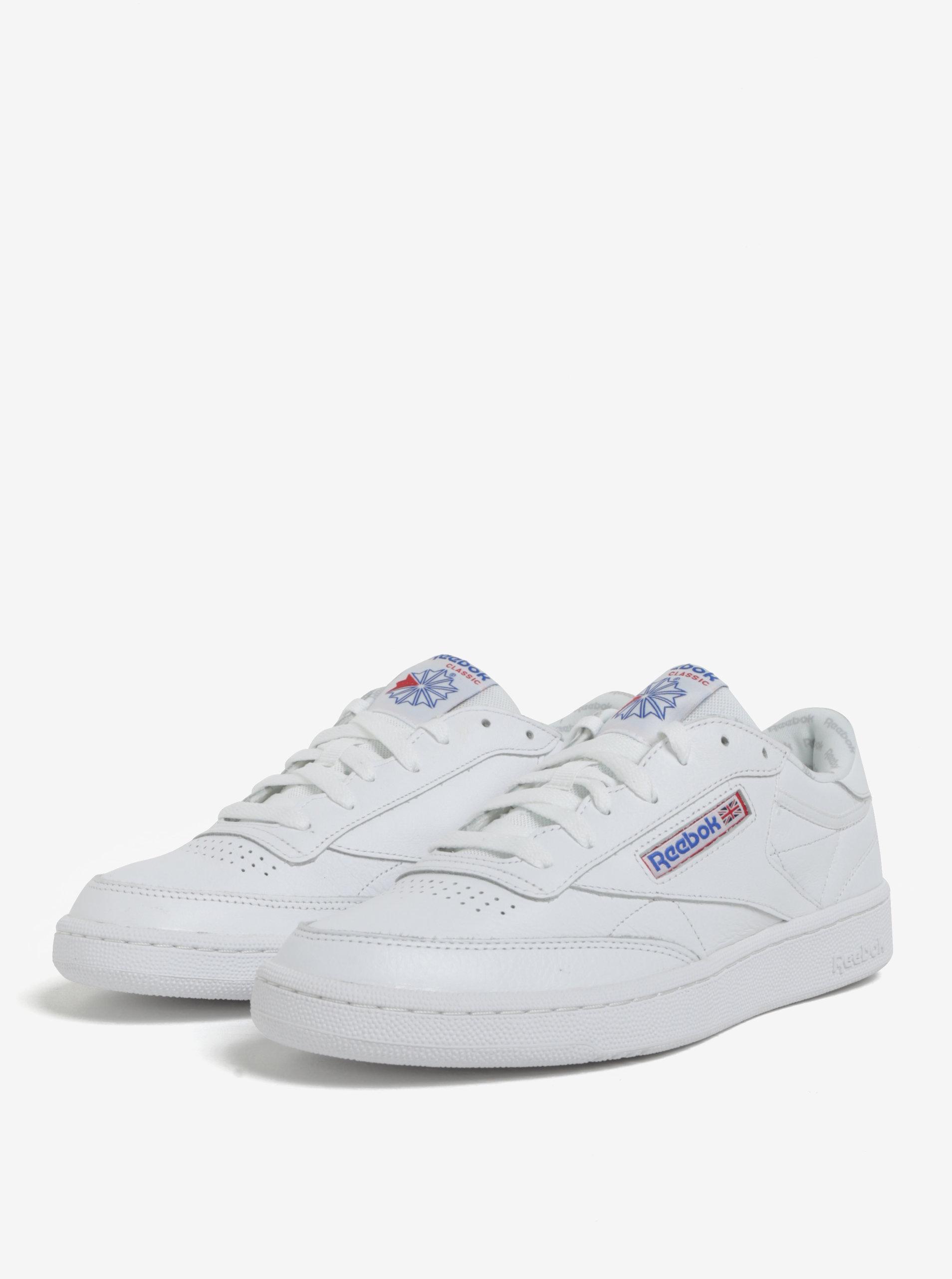 Bílé pánské kožené tenisky Reebok CLUB C 85 SO ... cc0feb42c74