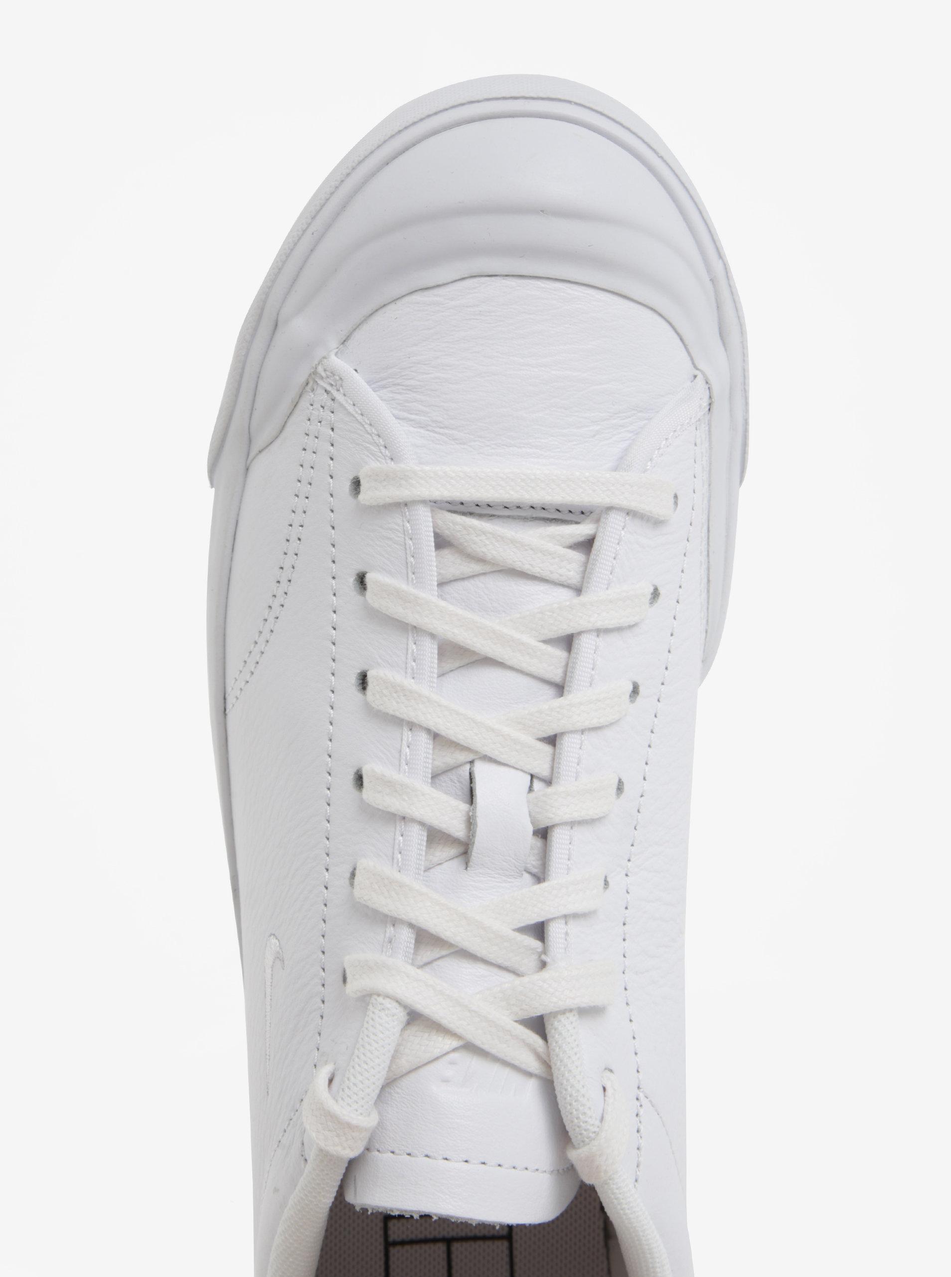 Biele pánske kožené tenisky Nike All Court 2 Low ... b6738232055