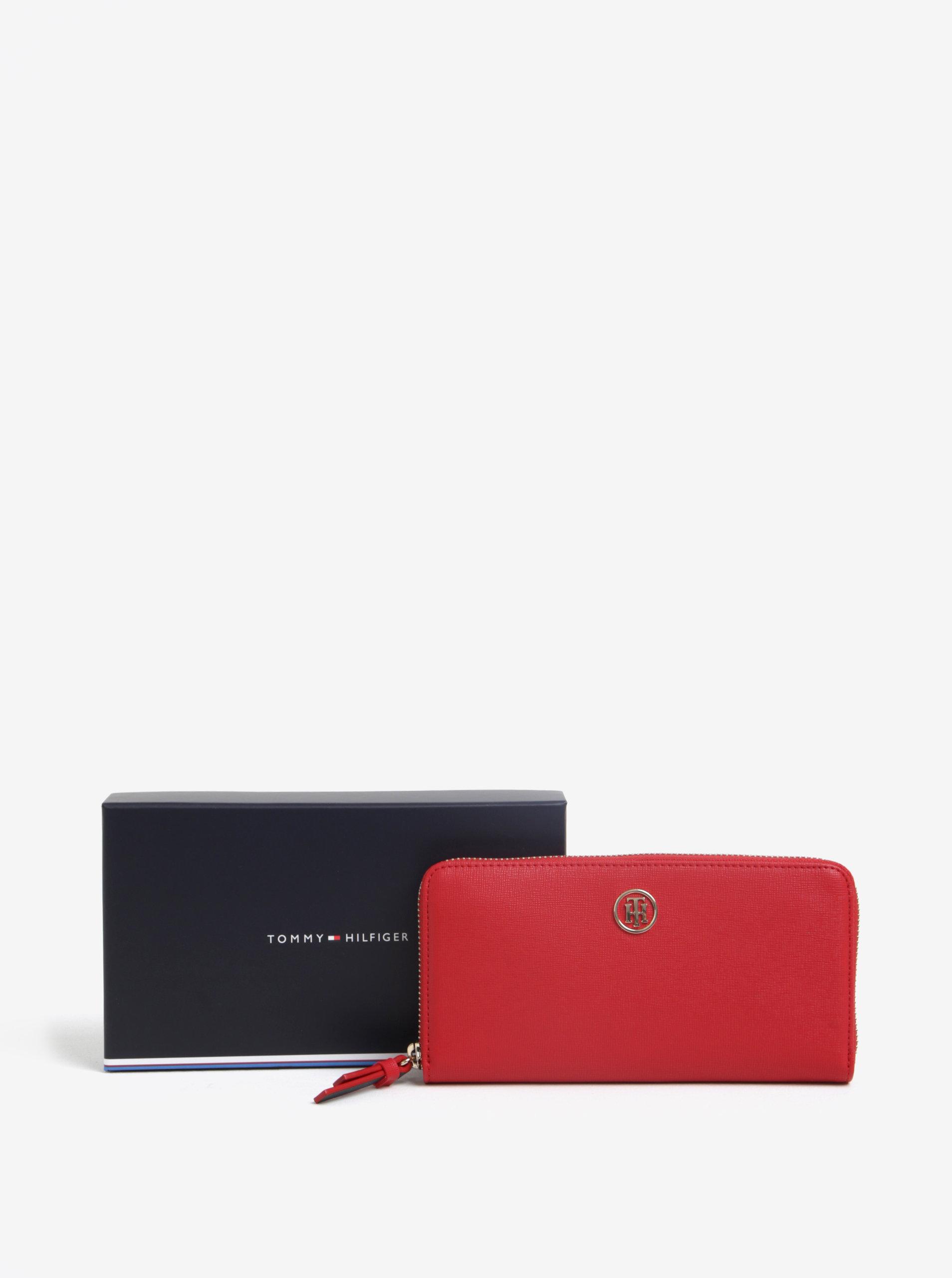 Červená dámská peněženka na zip Tommy Hilfiger ... dacc18b940
