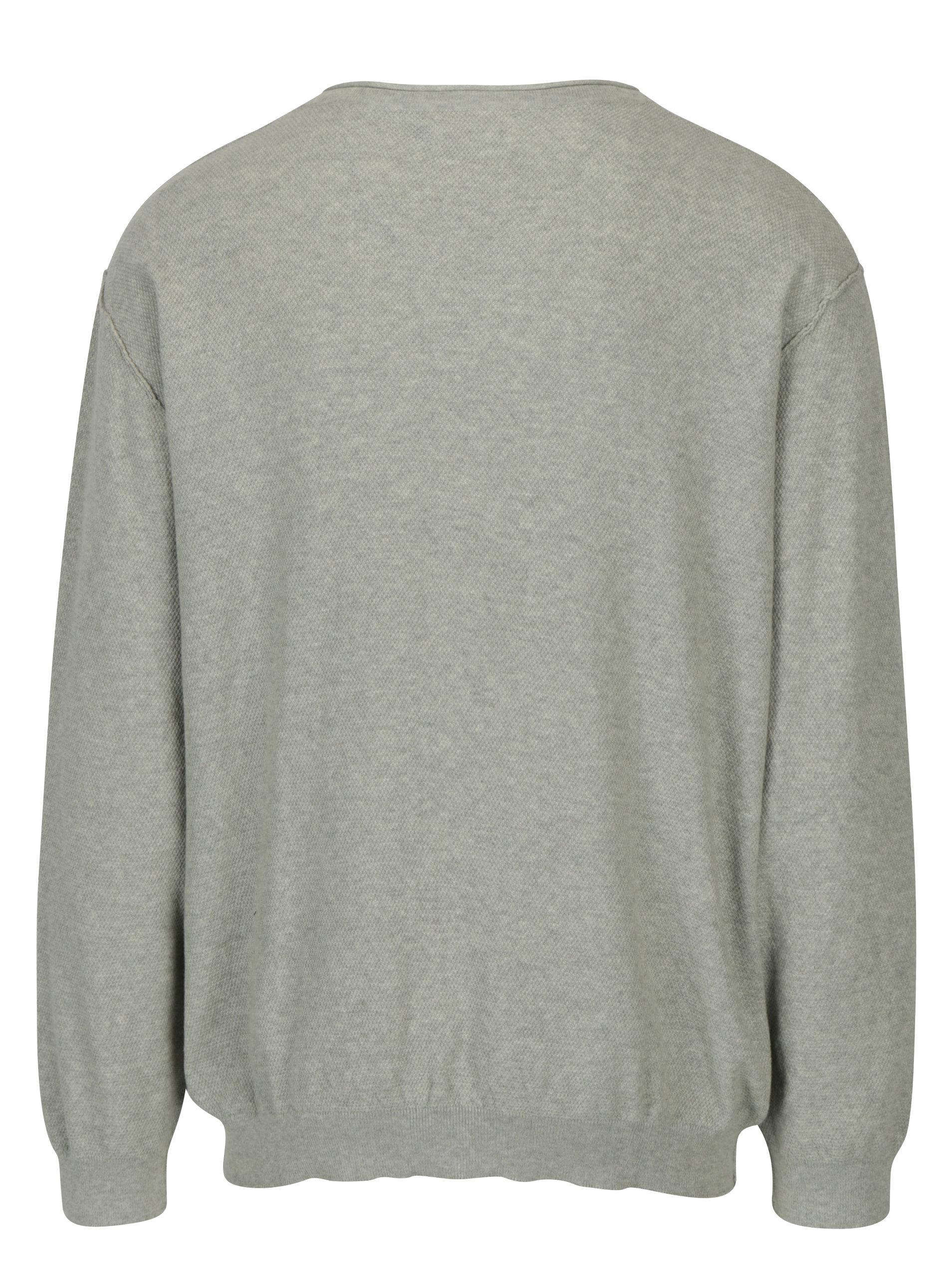 Světle šedý svetr Jack   Jones Nash ... 0460e0d395