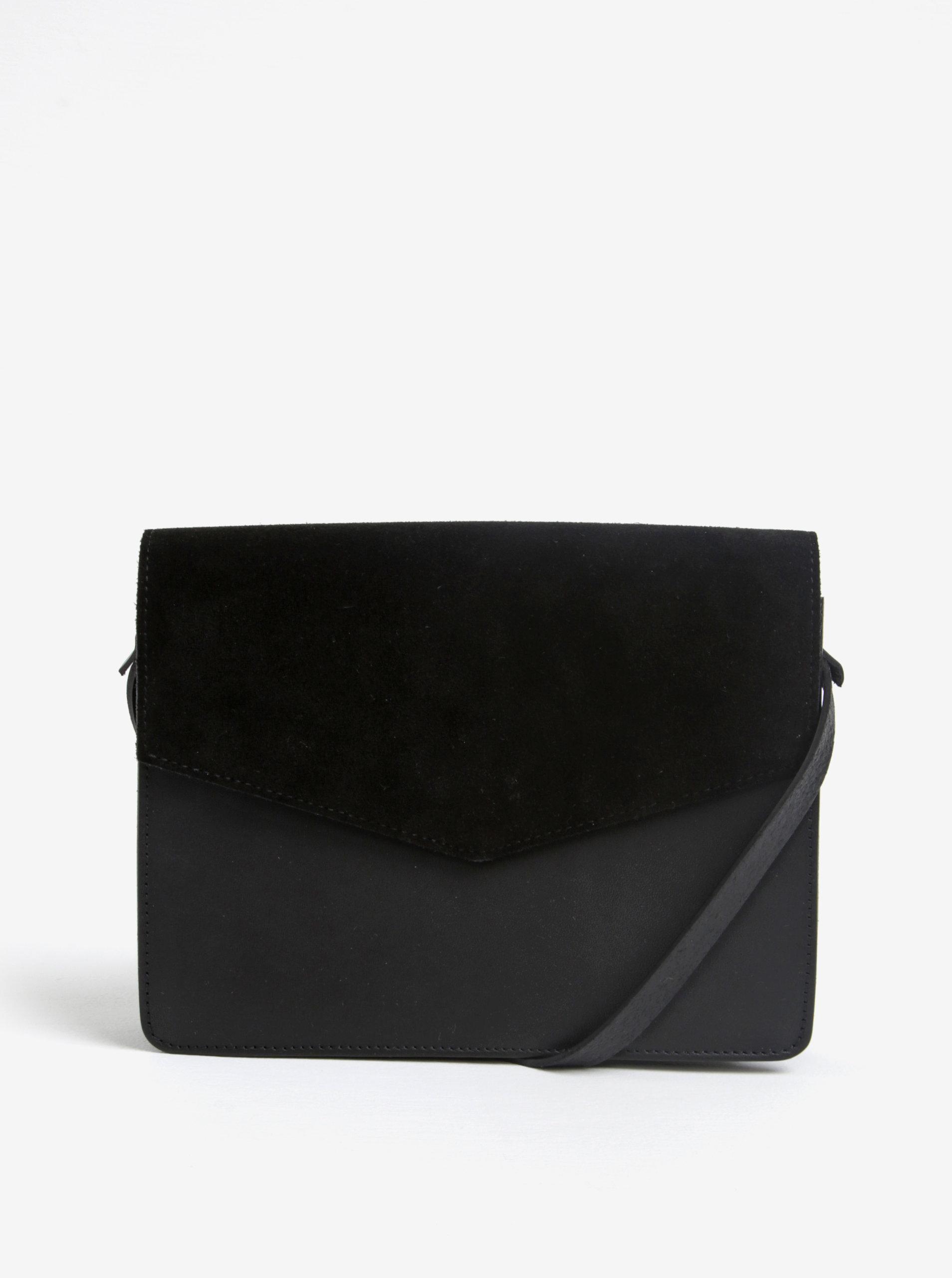 1e40e679b0d7 Černá kožená crossbody kabelka Pieces Dolly ...