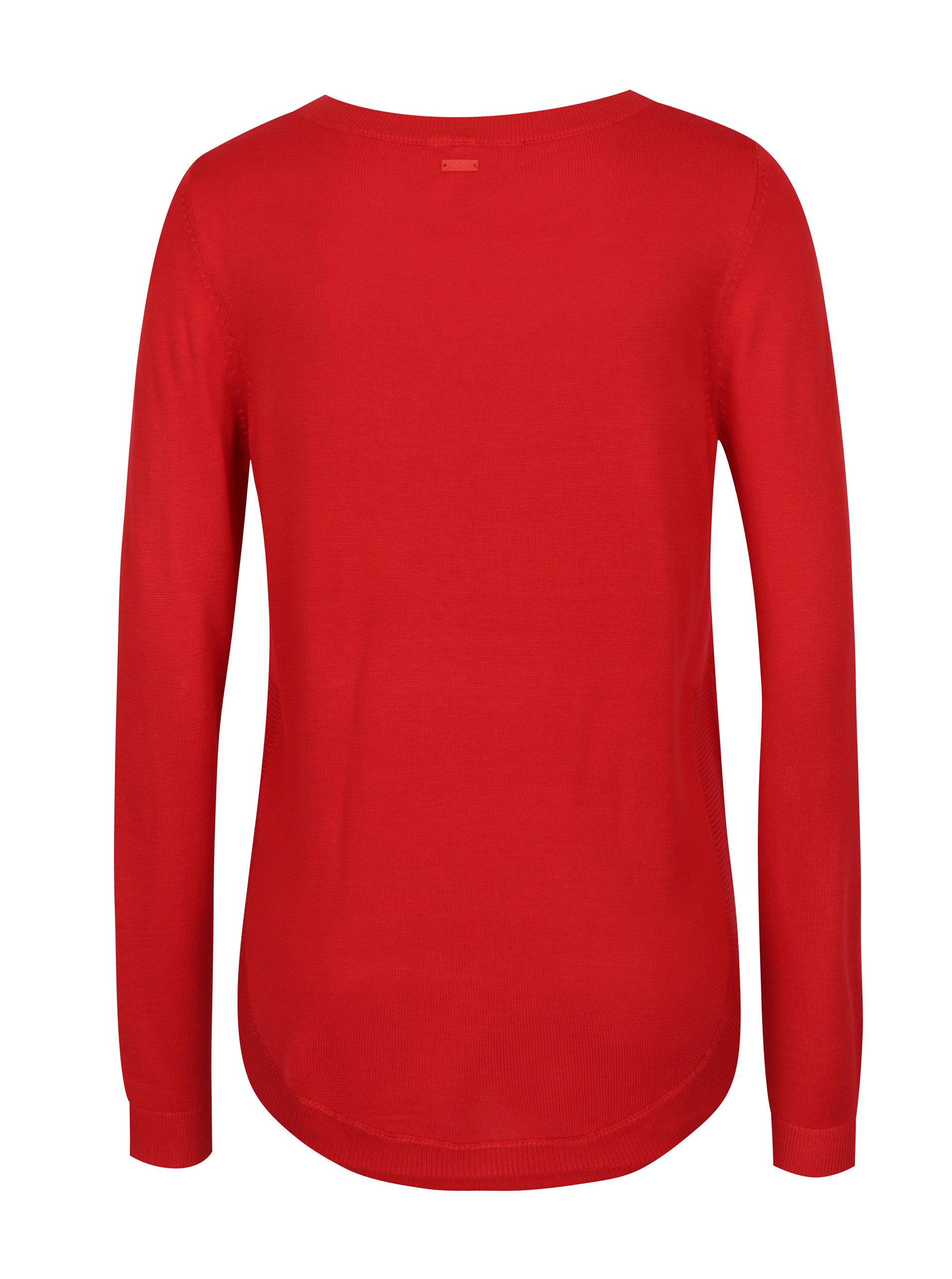 35017865cfbf Červený dámsky sveter s.Oliver