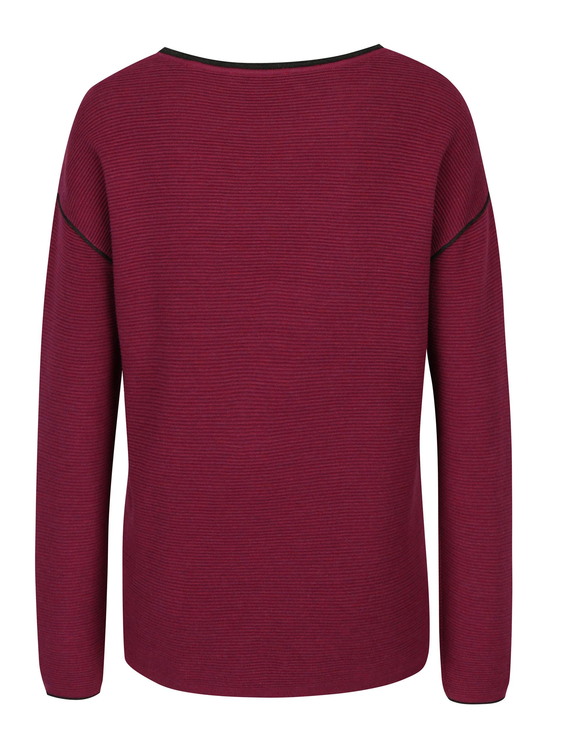 3fc71adcab5c Fialový dámsky rebrovaný sveter s.Oliver