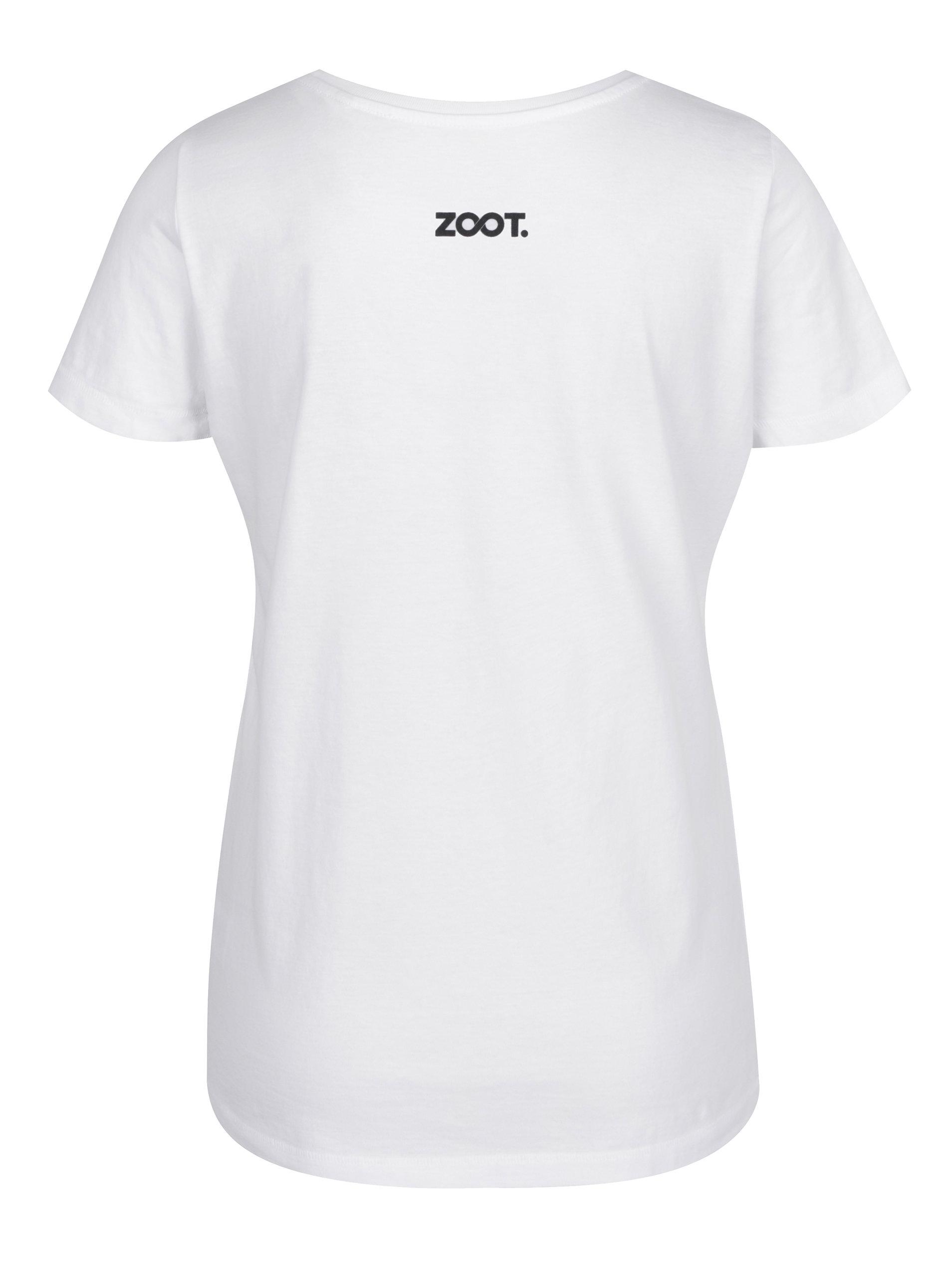 Bílé dámské tričko s potiskem ZOOT Original Zamilovaní sobi ... 87109ee268