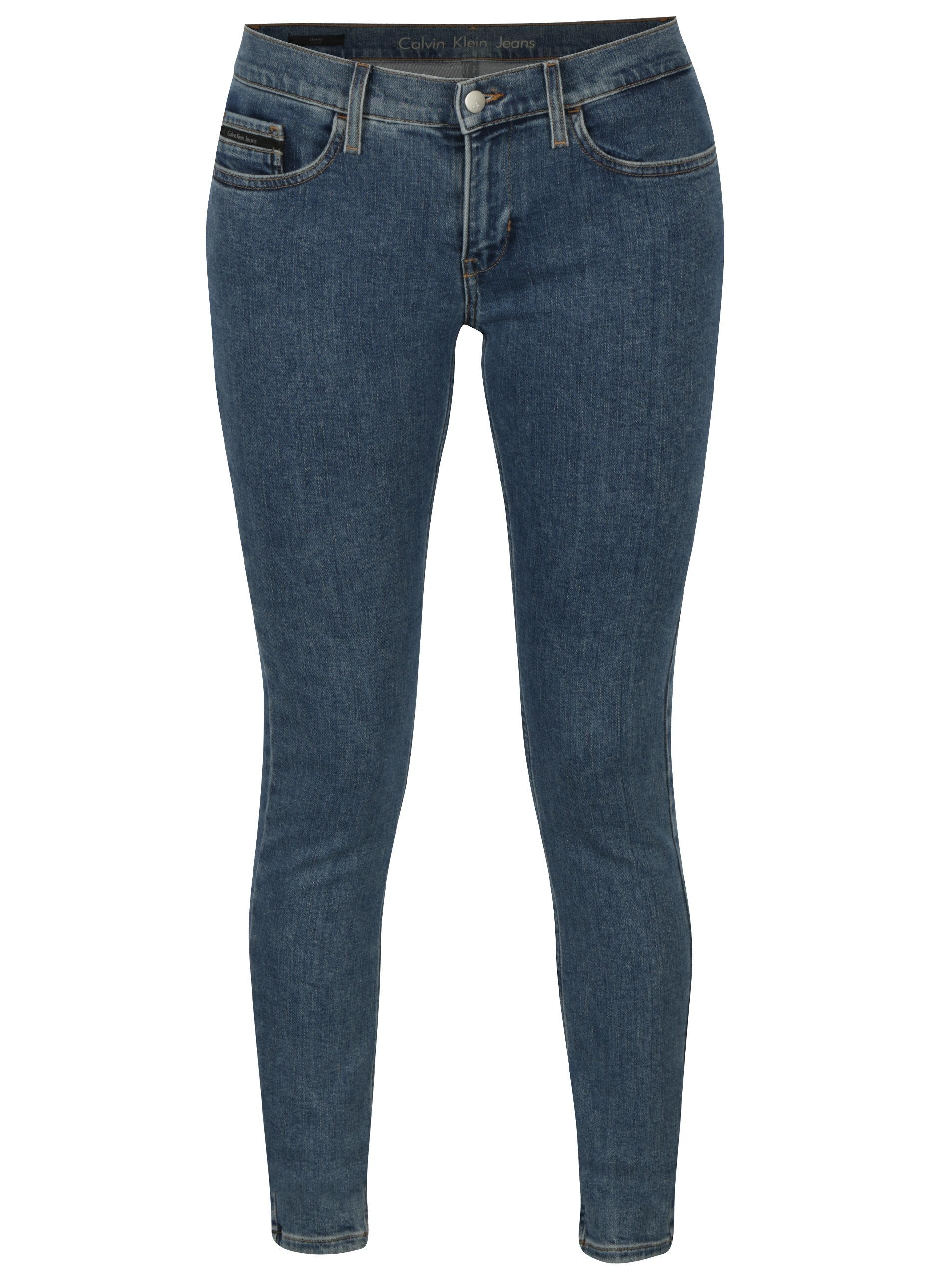 Modré dámské skinny džíny Calvin Klein Jeans Barkly ... 68a225df8d