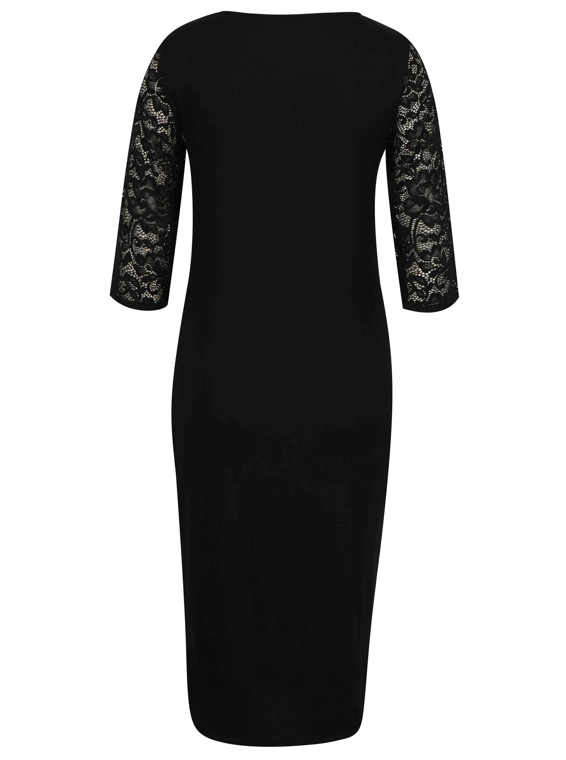 885607f64247 Čierne tehotenské šaty s čipkou Dorothy Perkins Maternity ...