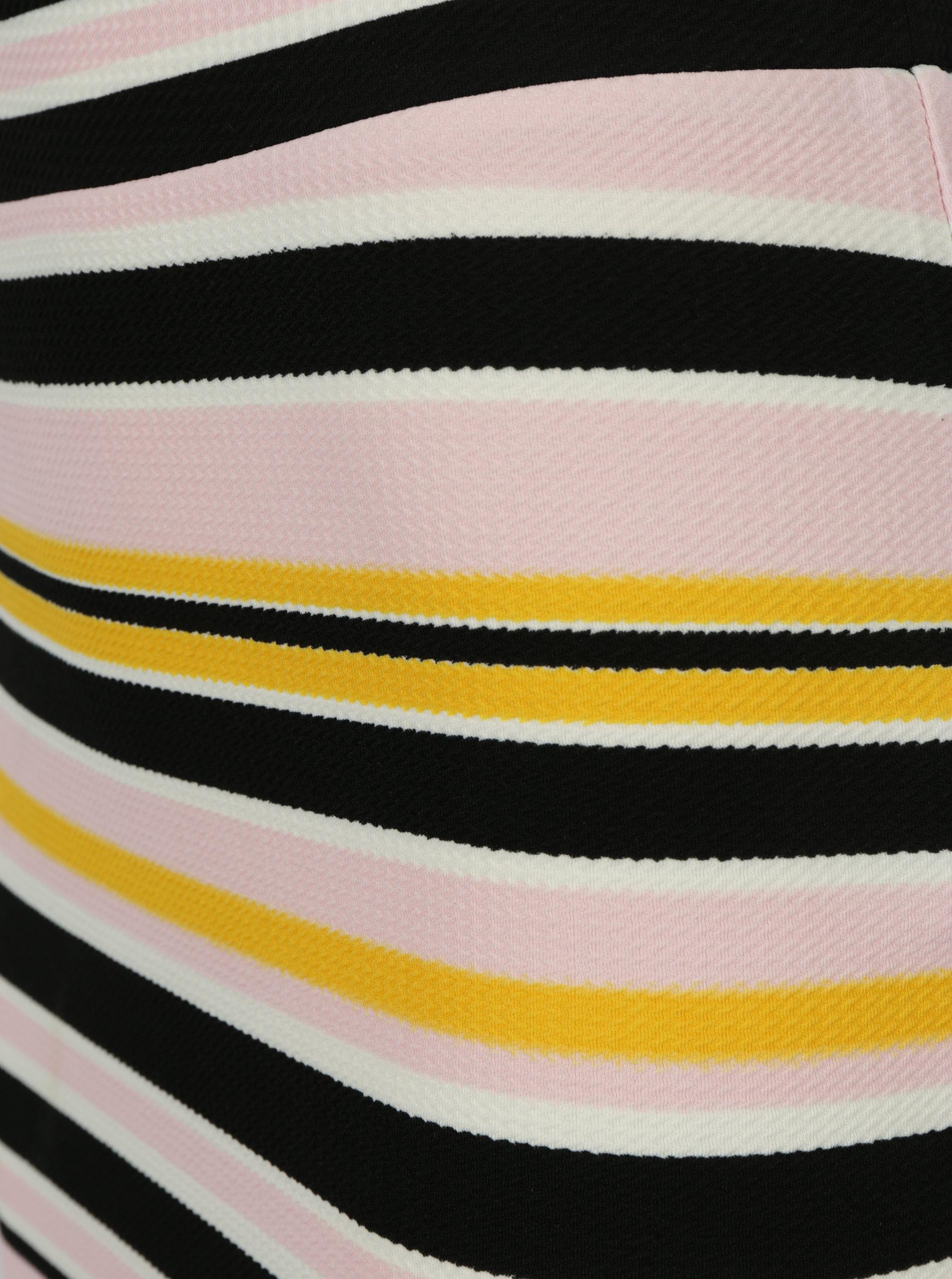 86dc4174f8cb Čierno-ružová pruhovaná puzdrová sukňa Noisy May Lina ...