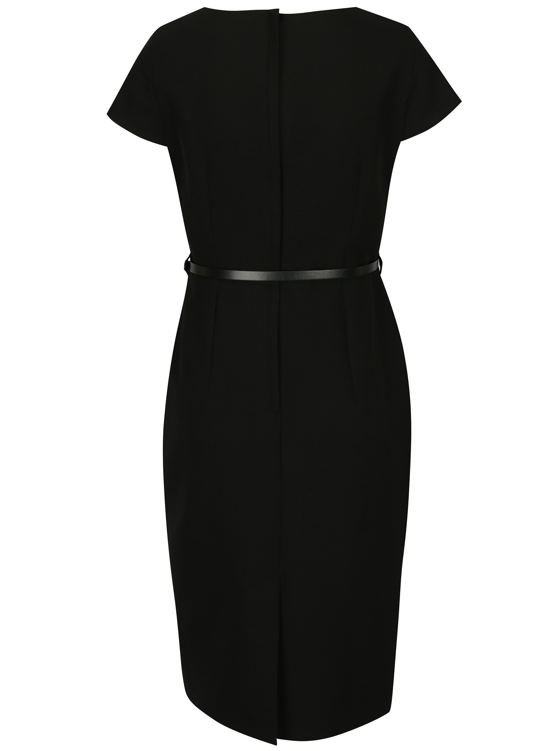 a66632d897b Černé pouzdrové šaty s páskem Dorothy Perkins ...
