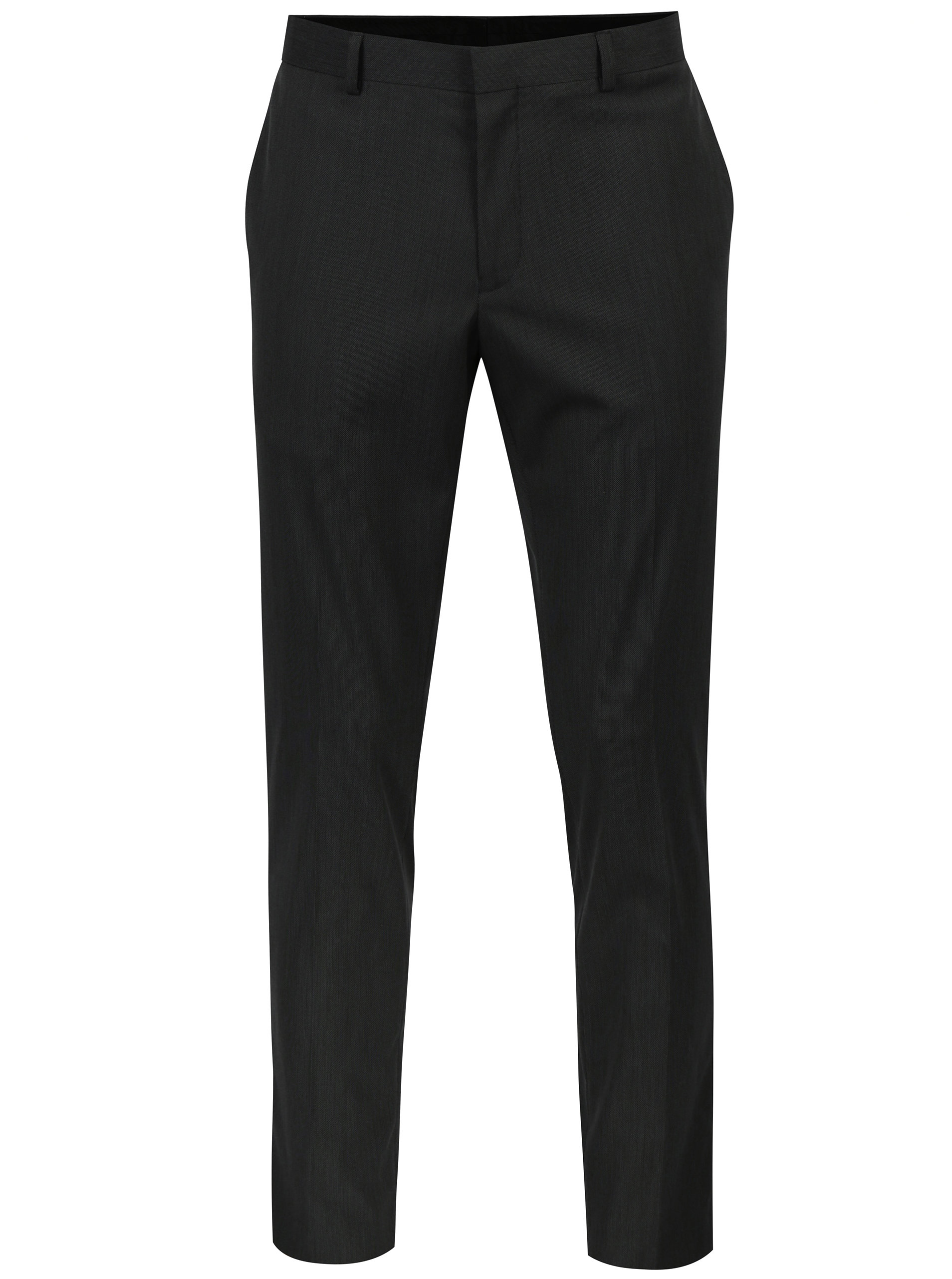 Šedé oblekové skinny kalhoty s jemným vzorem Burton Menswear London