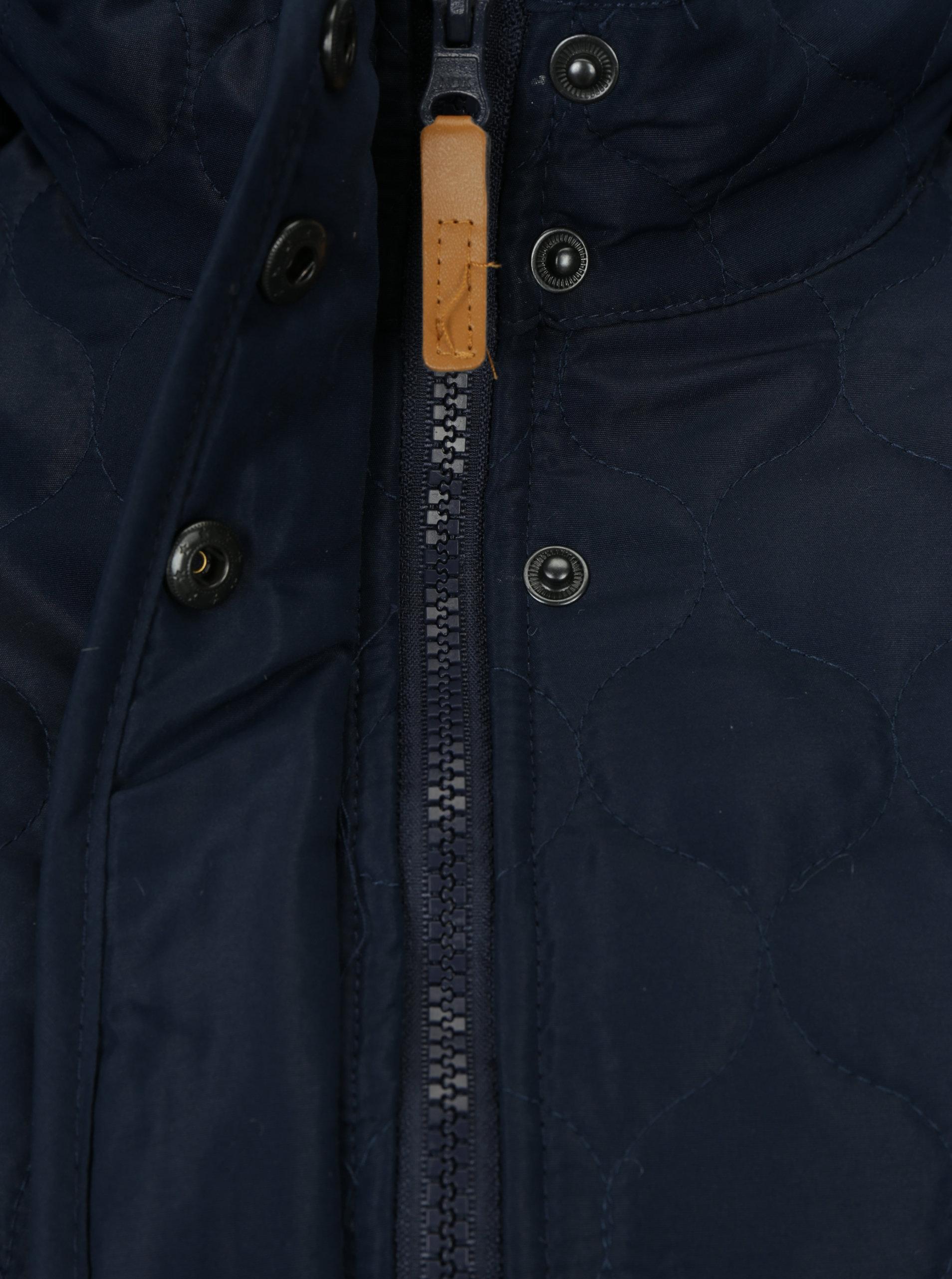 Tmavomodrá prešívaná funkčná bunda s kapucňou M Co ... 0c5ae9777c7