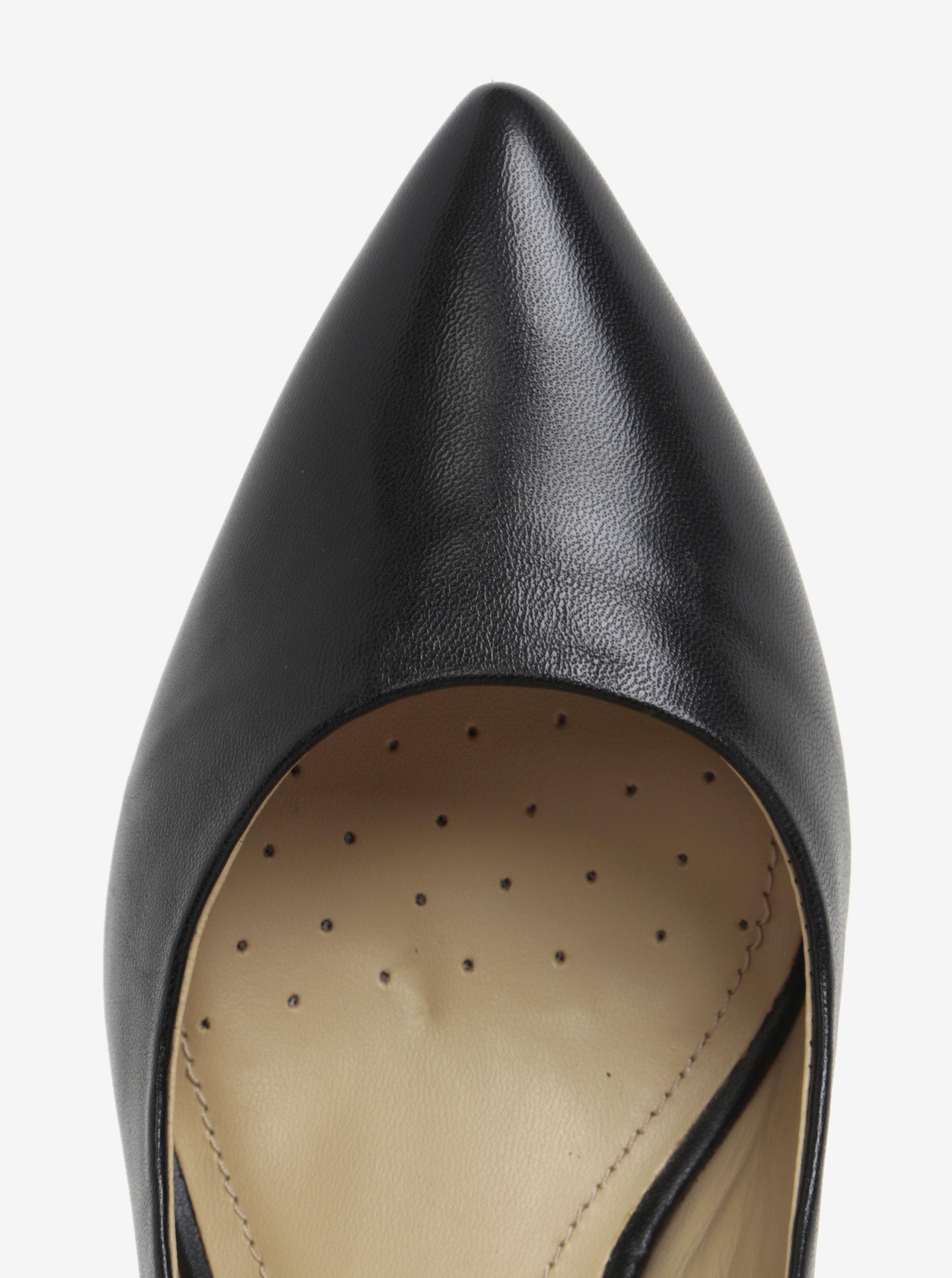 Černé kožené lodičky Geox Elina ... f083a8a80d