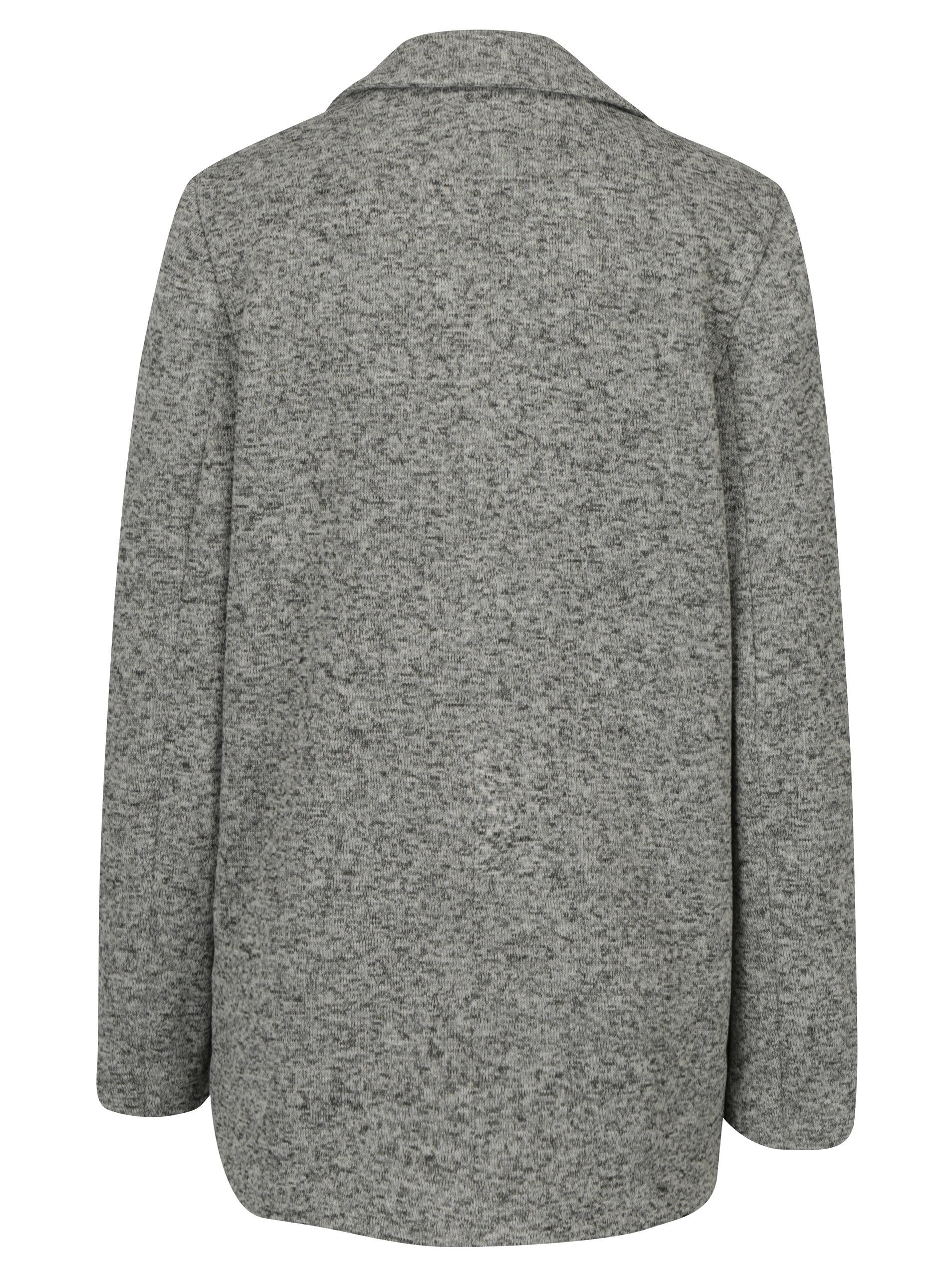 6debdcdb8 Sivý melírovaný krátky kabát Miss Selfridge | ZOOT.sk