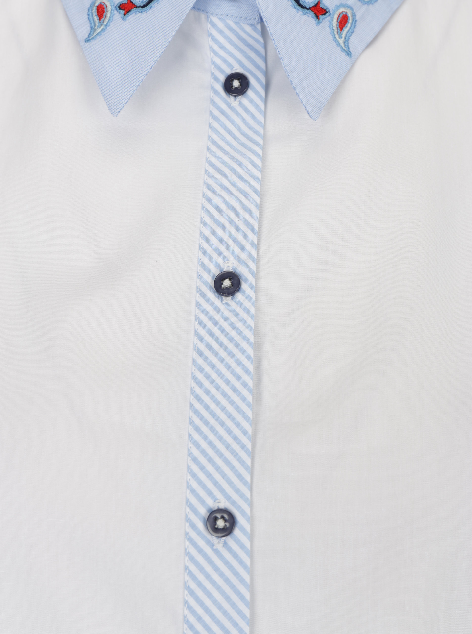 0ff9a28bafdd Modro-biela košeľa s výšivkou Desigual Liliane ...