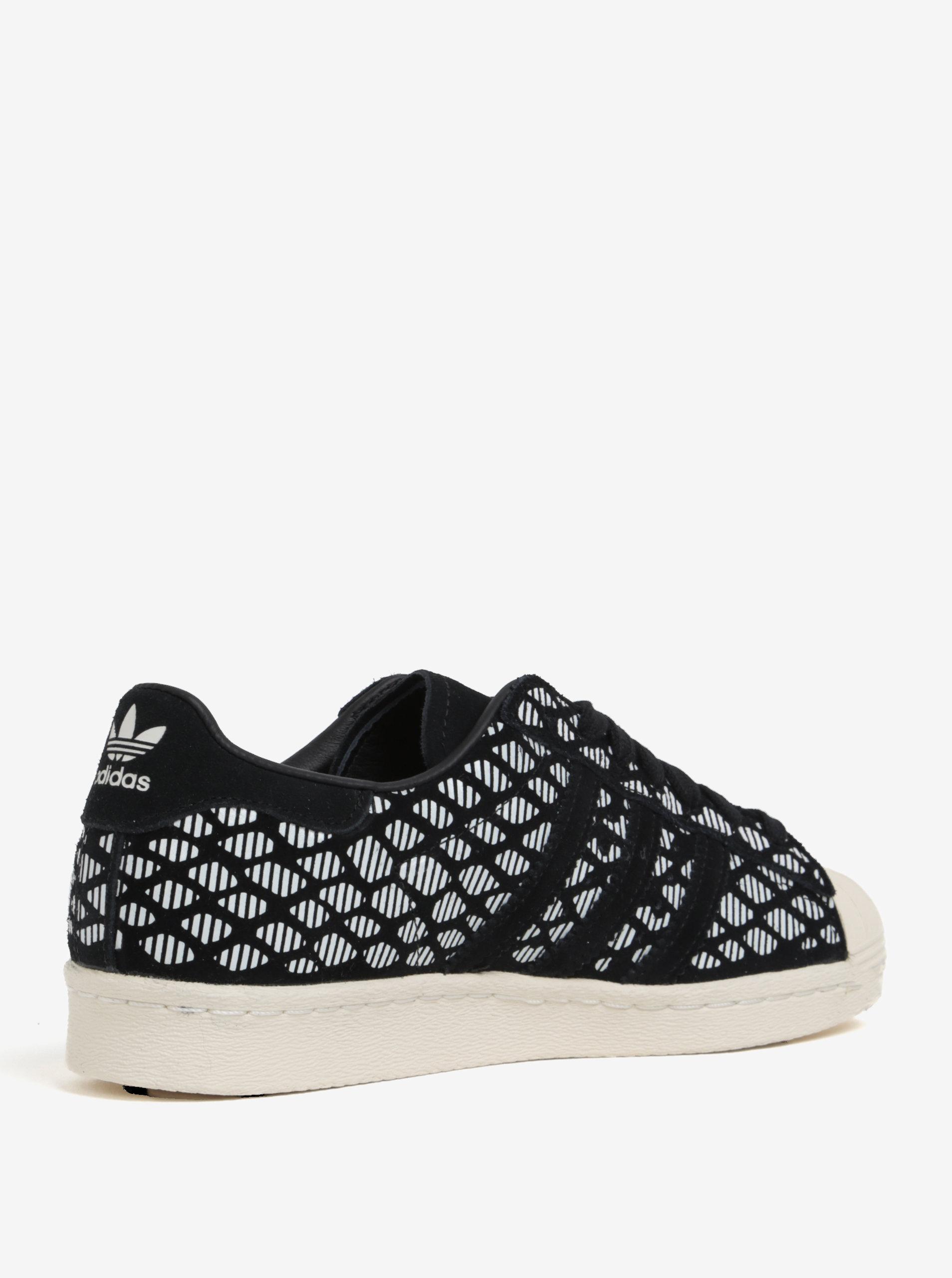 595f994f948e Bielo-čierne dámske semišové tenisky adidas Originals Superstar ...