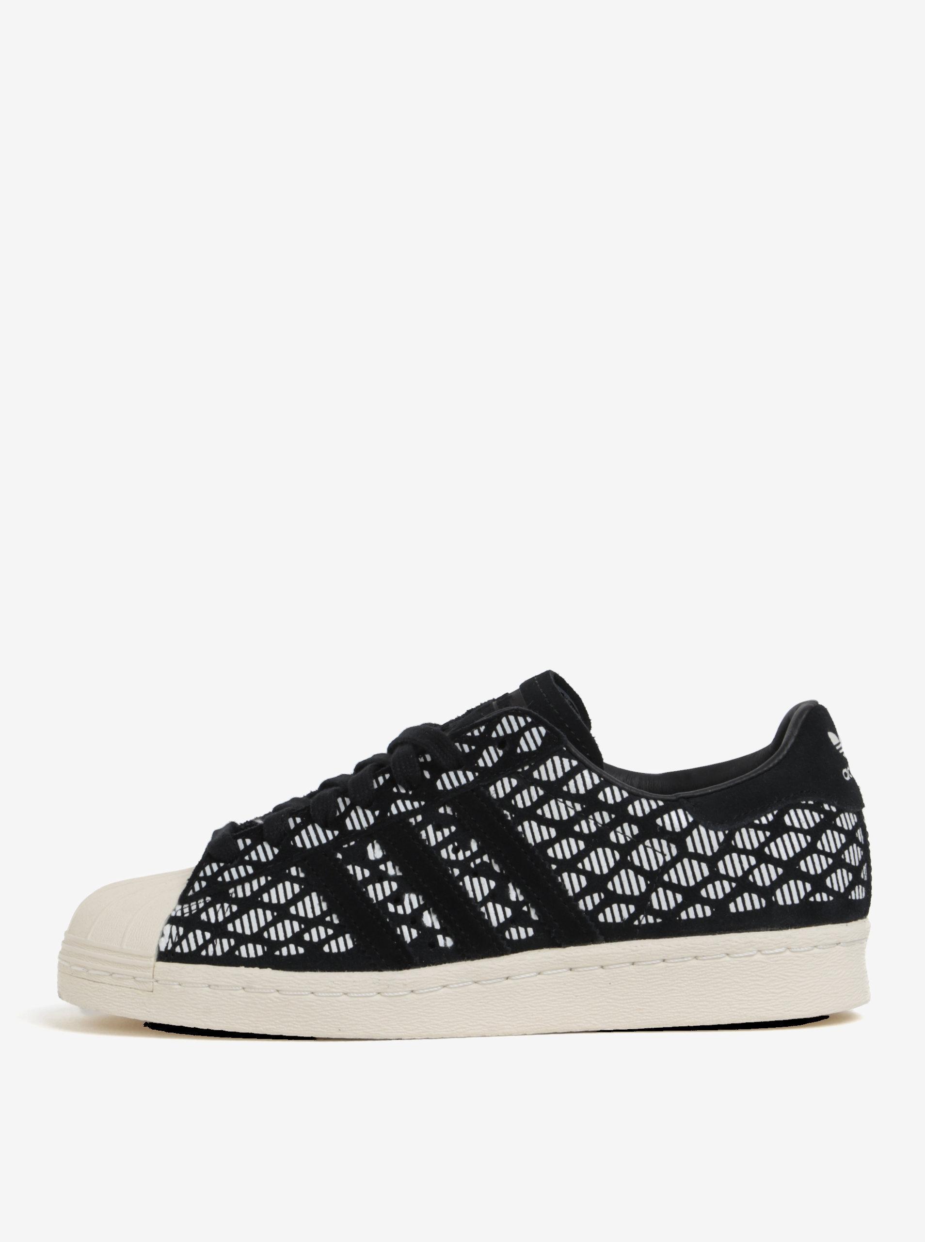 Bílo-černé dámské semišové tenisky adidas Originals Superstar ... 3135984cb24