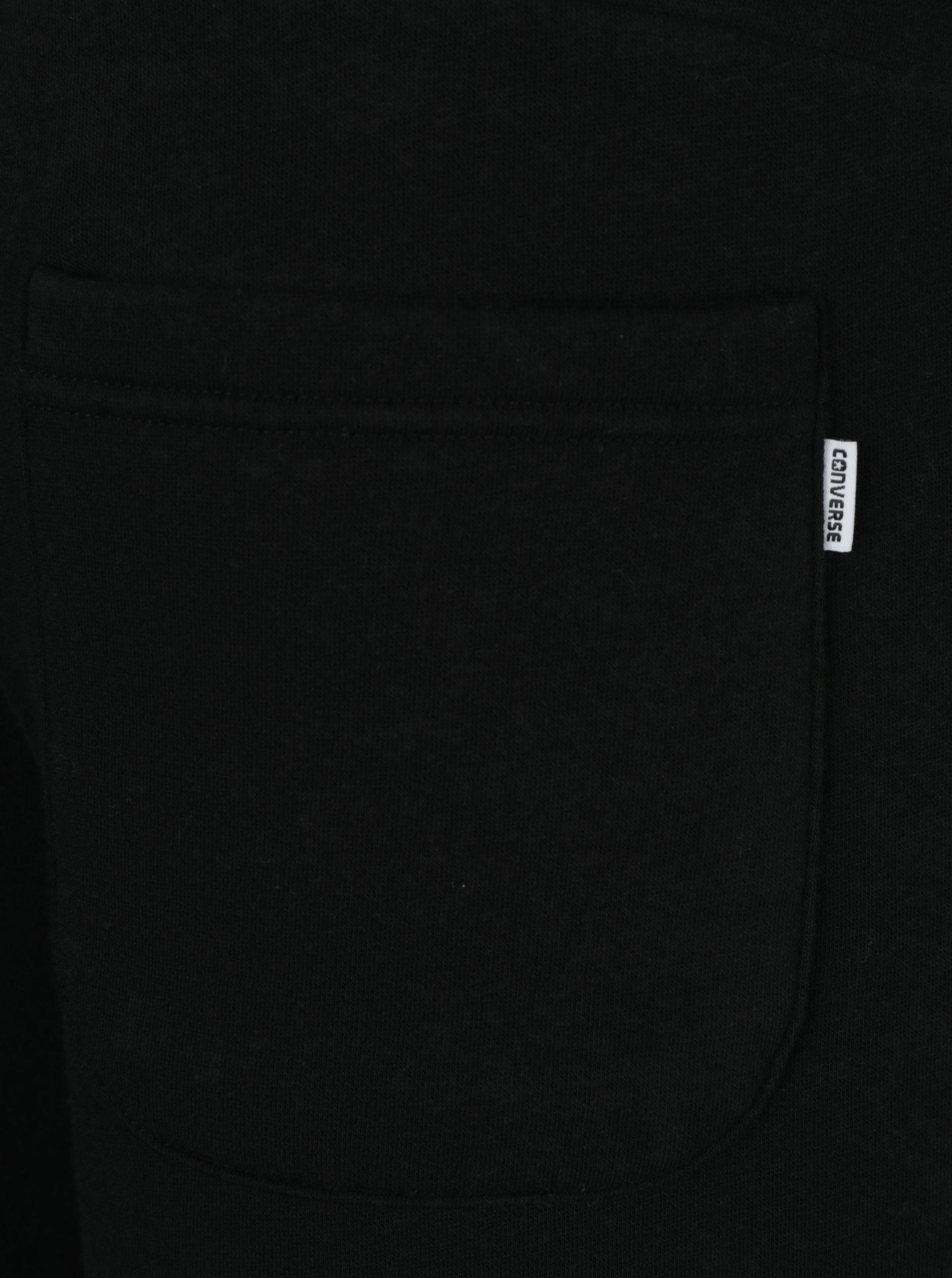 Černé pánské tepláky s kapsami Converse Core ... 2c42abaebfb