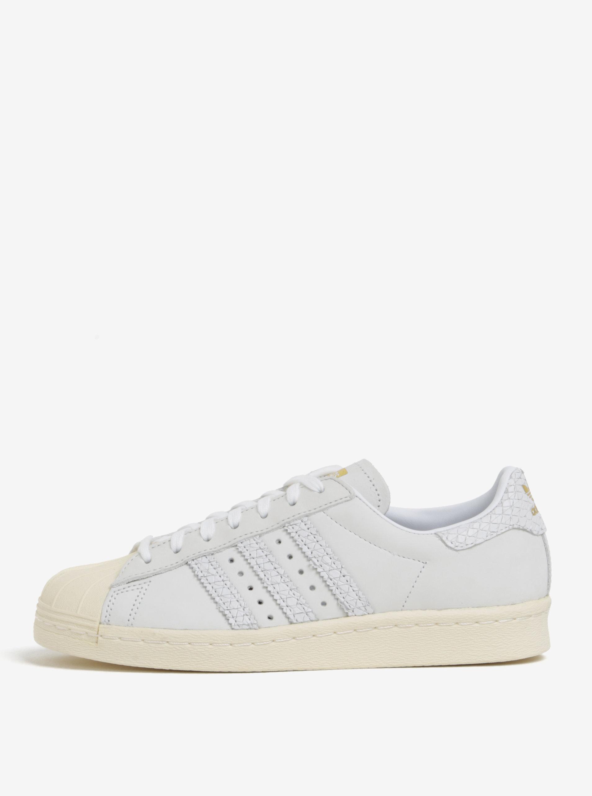 Krémové dámské kožené tenisky adidas Originals Superstar ... a287b8befe6