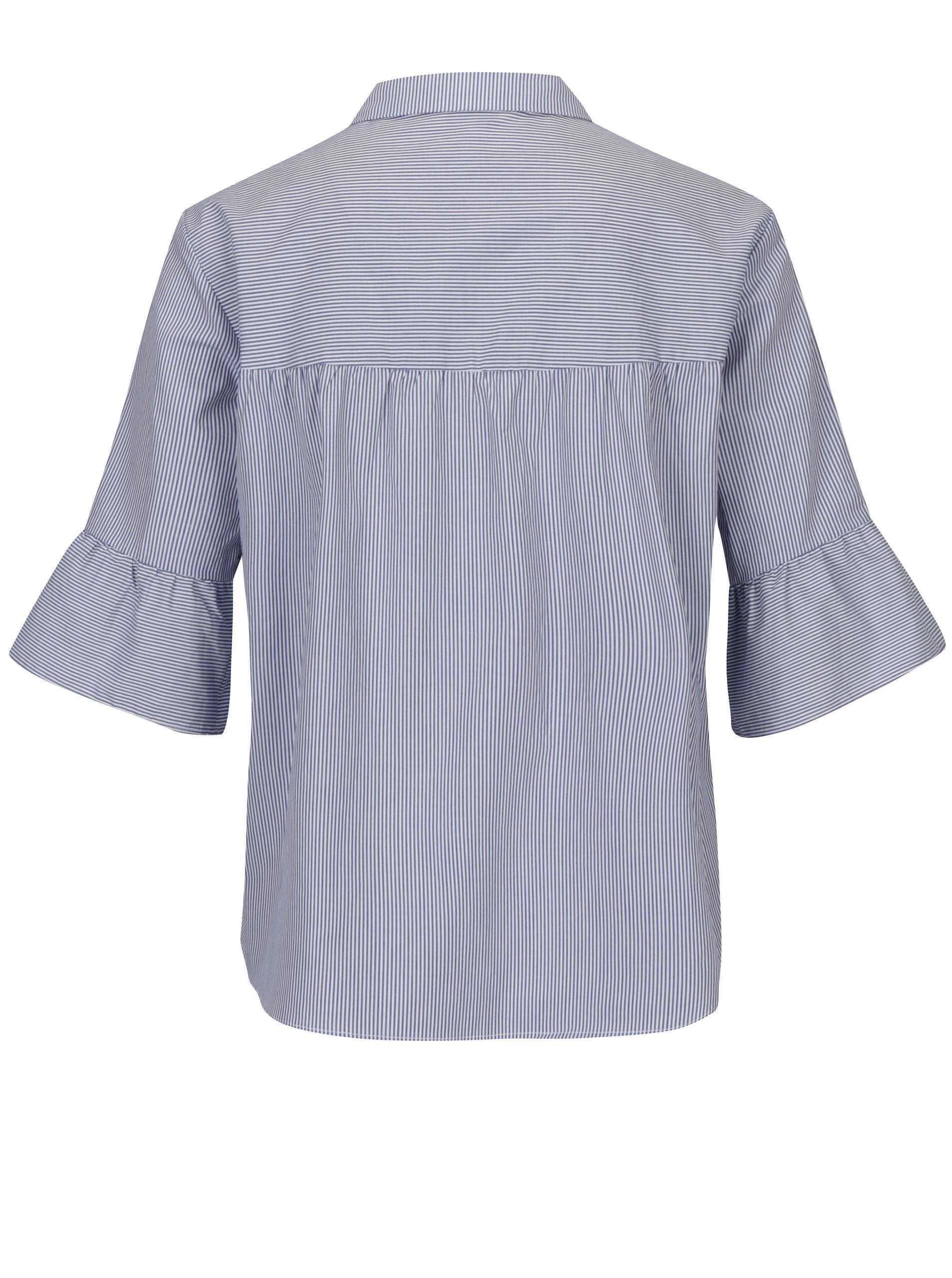 49342f34e248 Bielo-modrá pruhovaná košeľa s 3 4 rukávom Scotch   Soda ...
