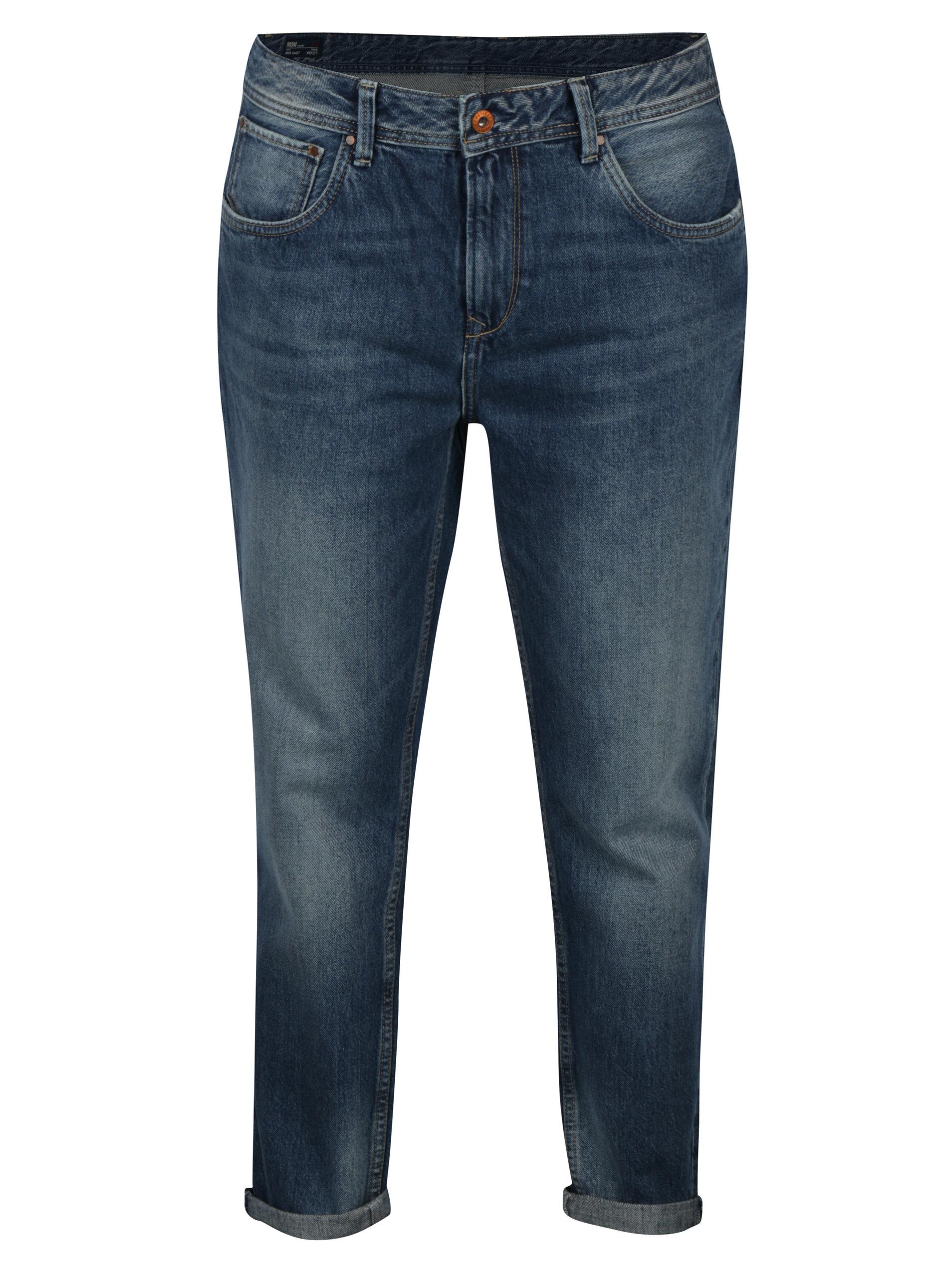 Modré dámské mom džíny Pepe Jeans Violet ... b85b52f757