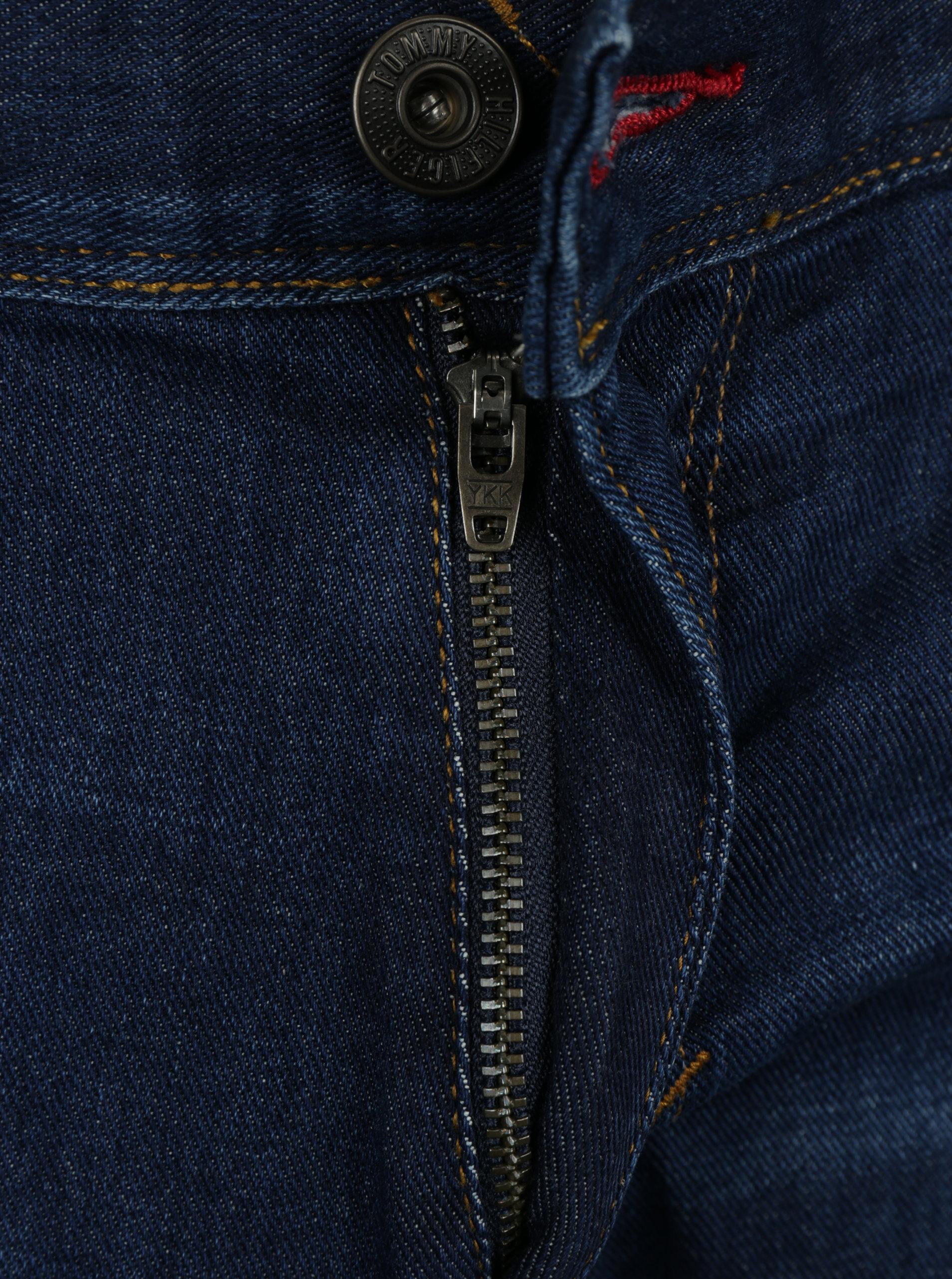 3d6cb958608 Tmavě modré pánské straight fit džíny Tommy Hilfiger ...