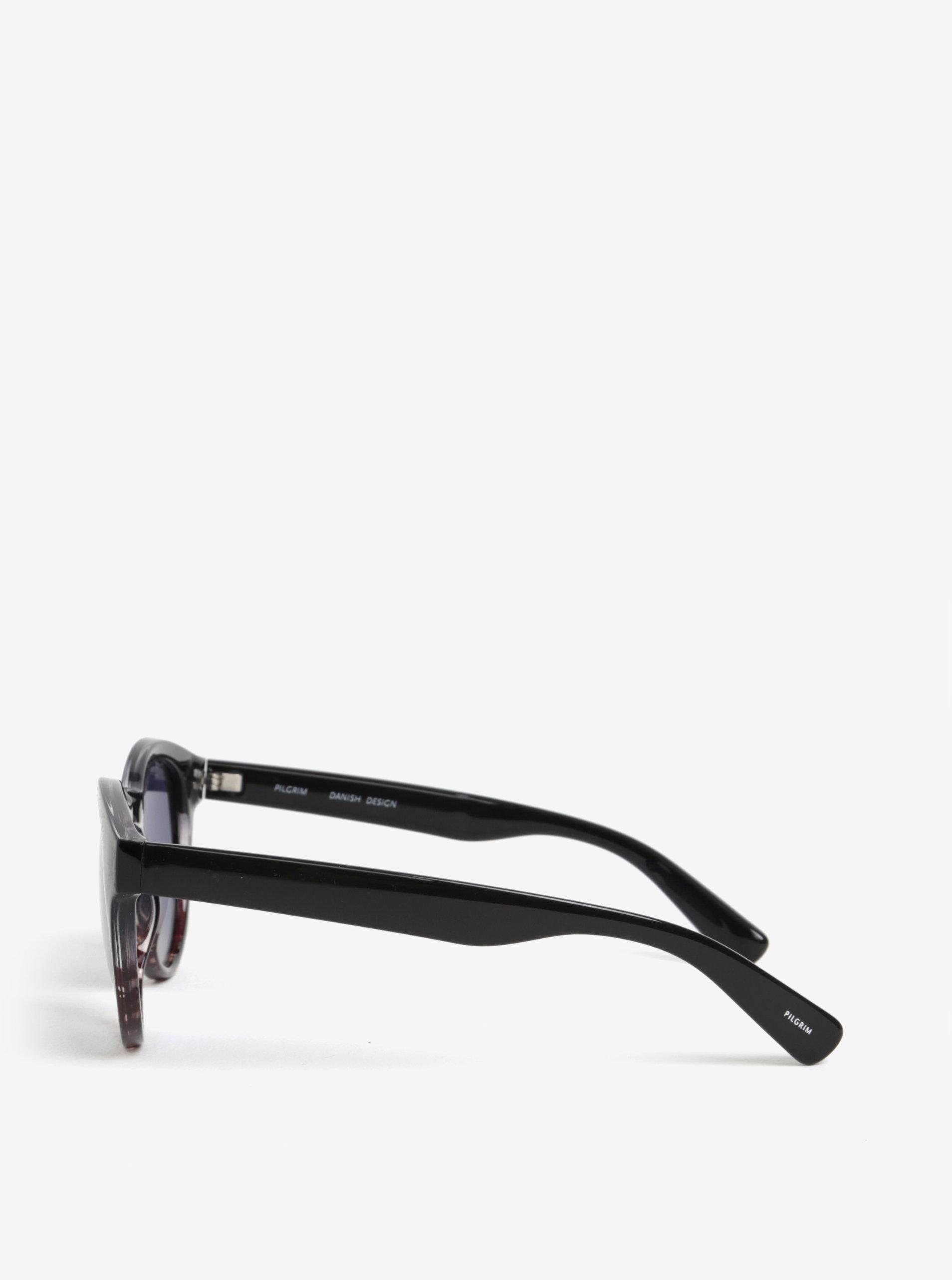 Hnedo-čierne dámske slnečné okuliare Pilgrim Kimana ... 4f869c00c5c