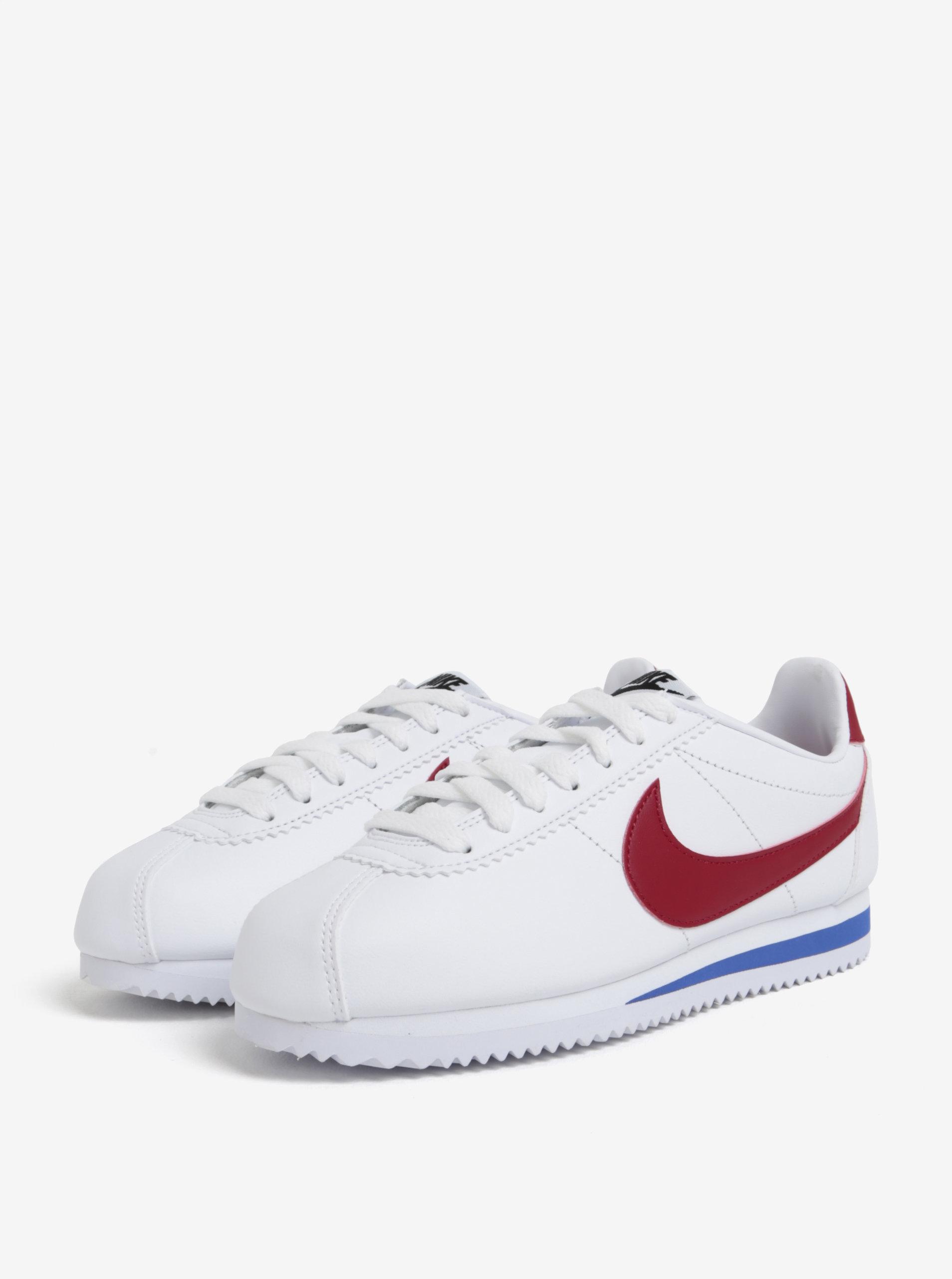 Bílé dámské kožené tenisky Nike Classic Cortez ... 6e0672834a5