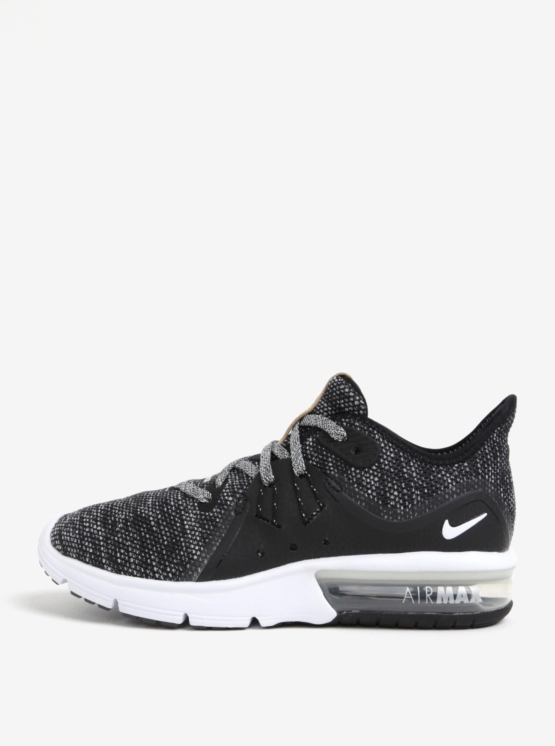 Černé dámské žíhané tenisky Nike Air Max Sequent 3 Running ... 233fed4dd3