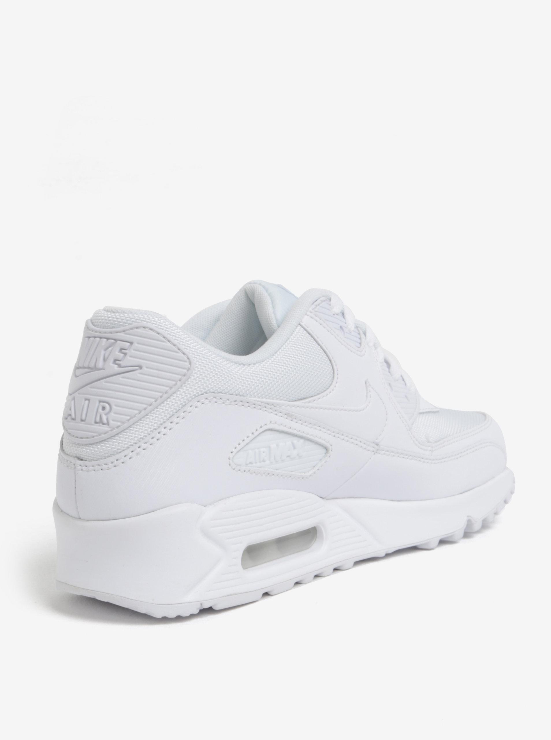 Bílé pánské kožené tenisky Nike Air Max  90 Essential ... a11f4e1301