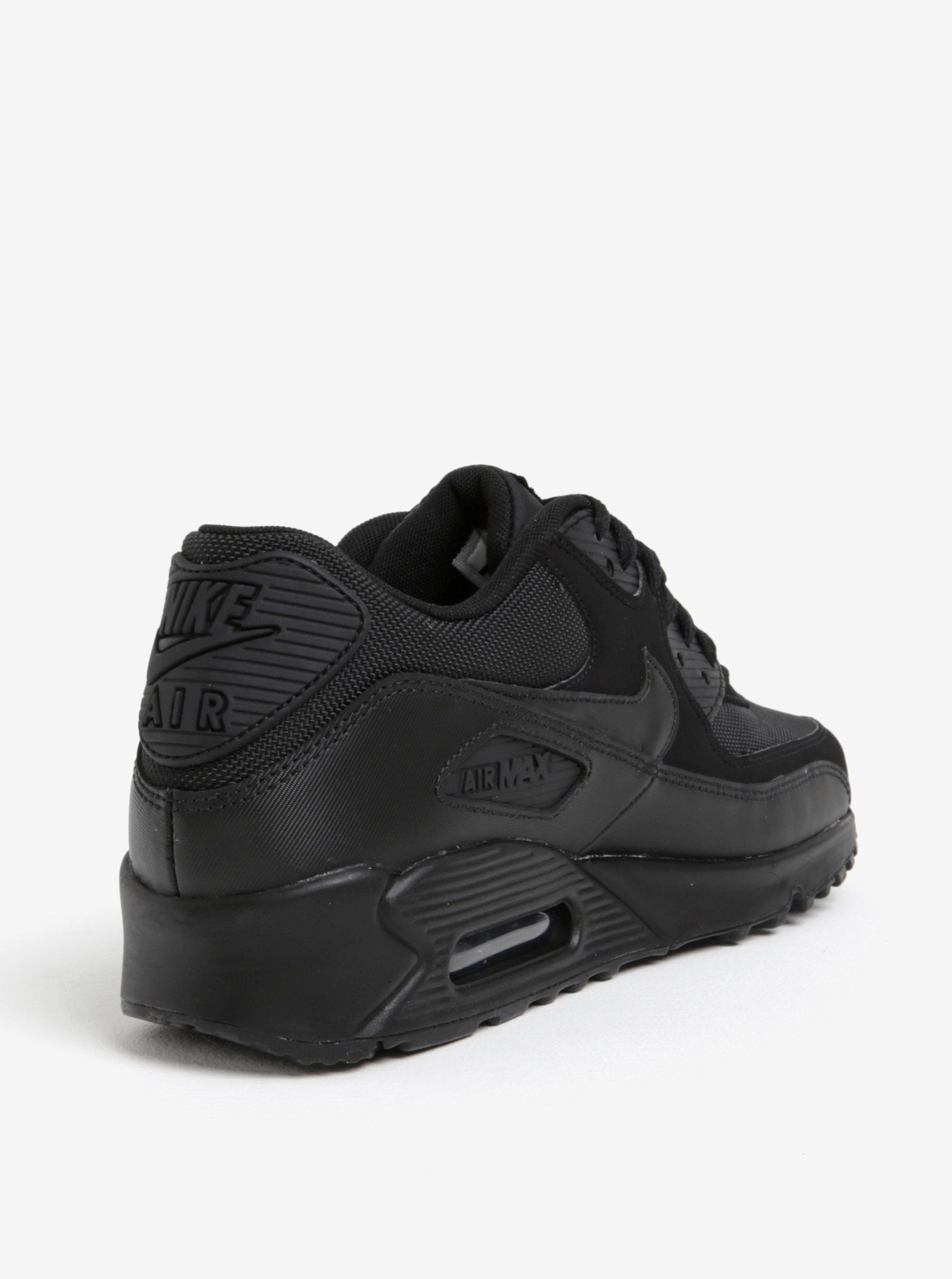 finest selection d3a6c 154e3 Pantofi sport negri din piele intoarsa pentru barbati Nike Air Max  90  Essential ...