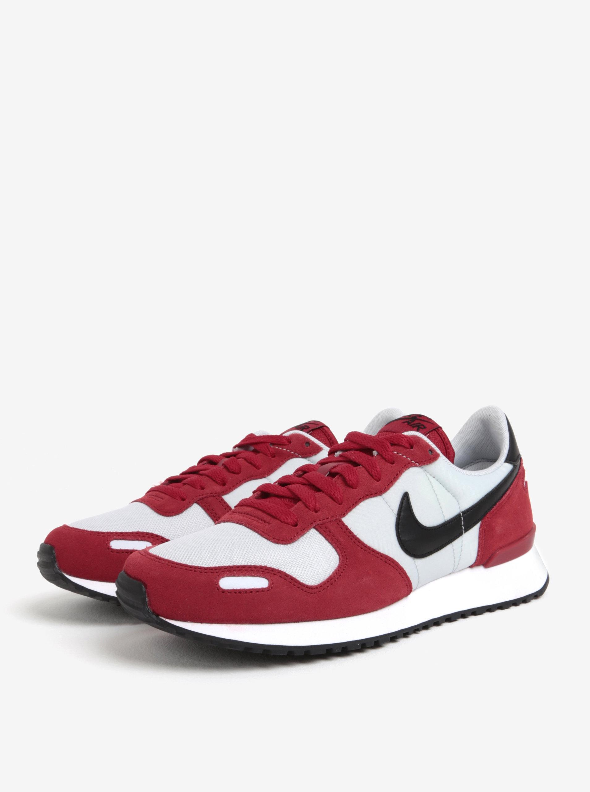 83b0c2dae5a Bílo-červené semišové pánské tenisky Nike Air Vortex ...