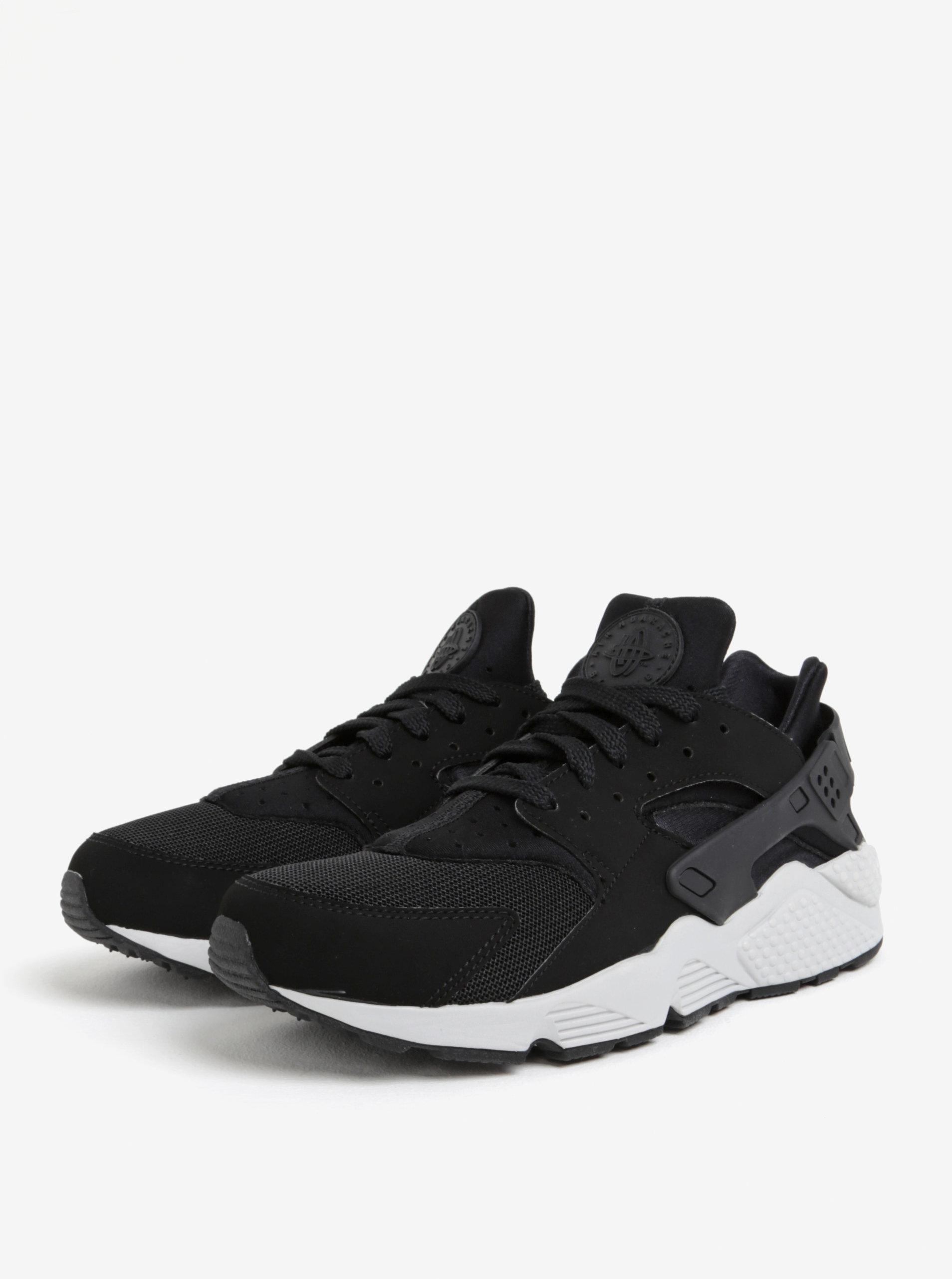 Černé pánské tenisky s bílou podrážkou Nike Air Huarache ... eabefed61fa