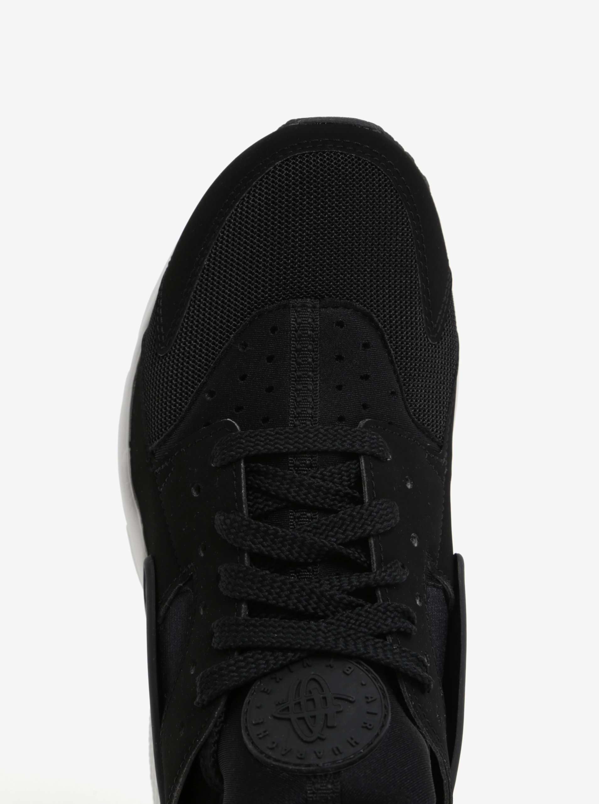 b4667a3c7be1 Čierne pánske tenisky s bielou podrážkou Nike Air Huarache ...