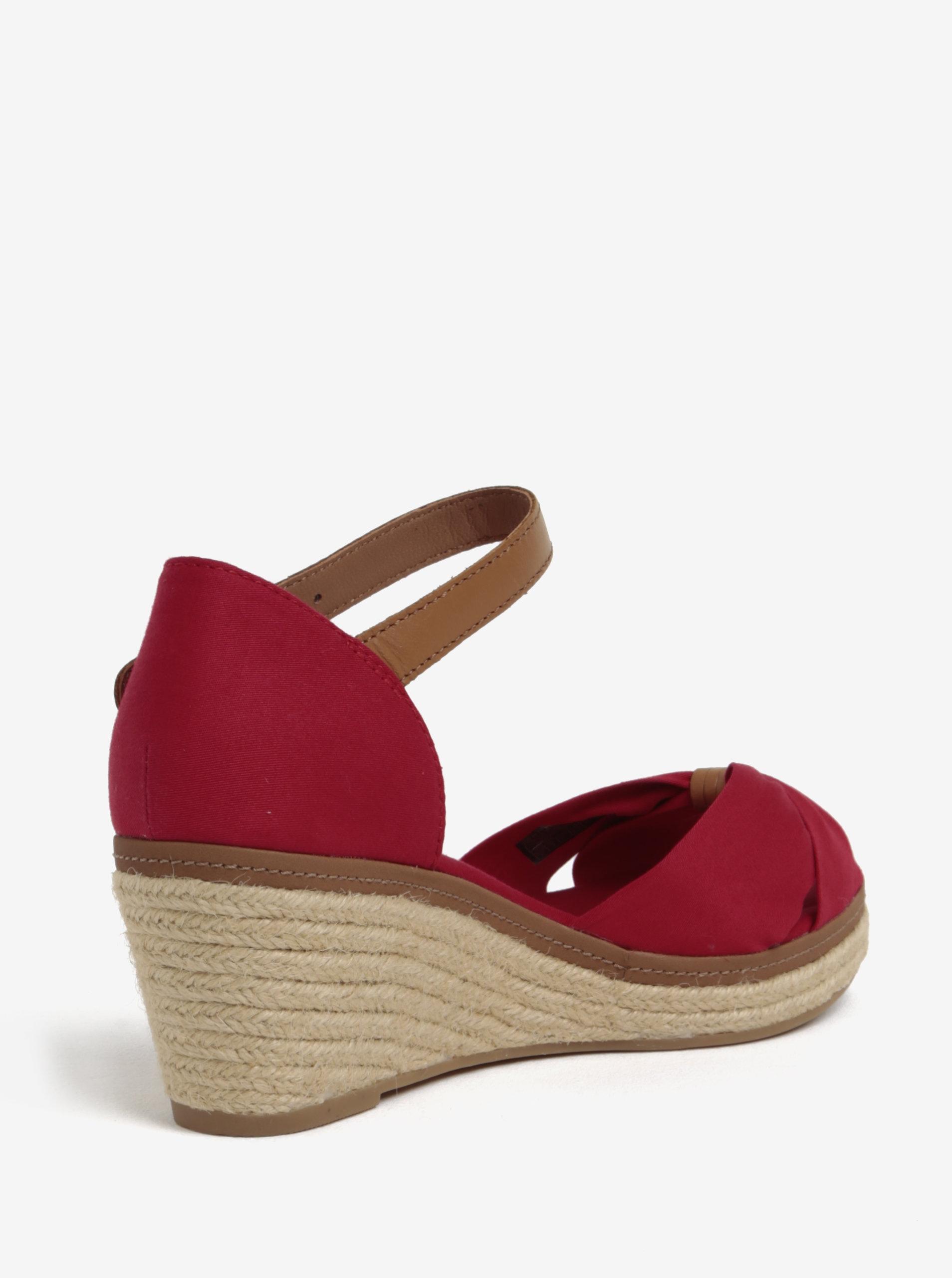 1980535b1a63 Červené sandále na klinovom podpätku Tommy Hilfiger ...