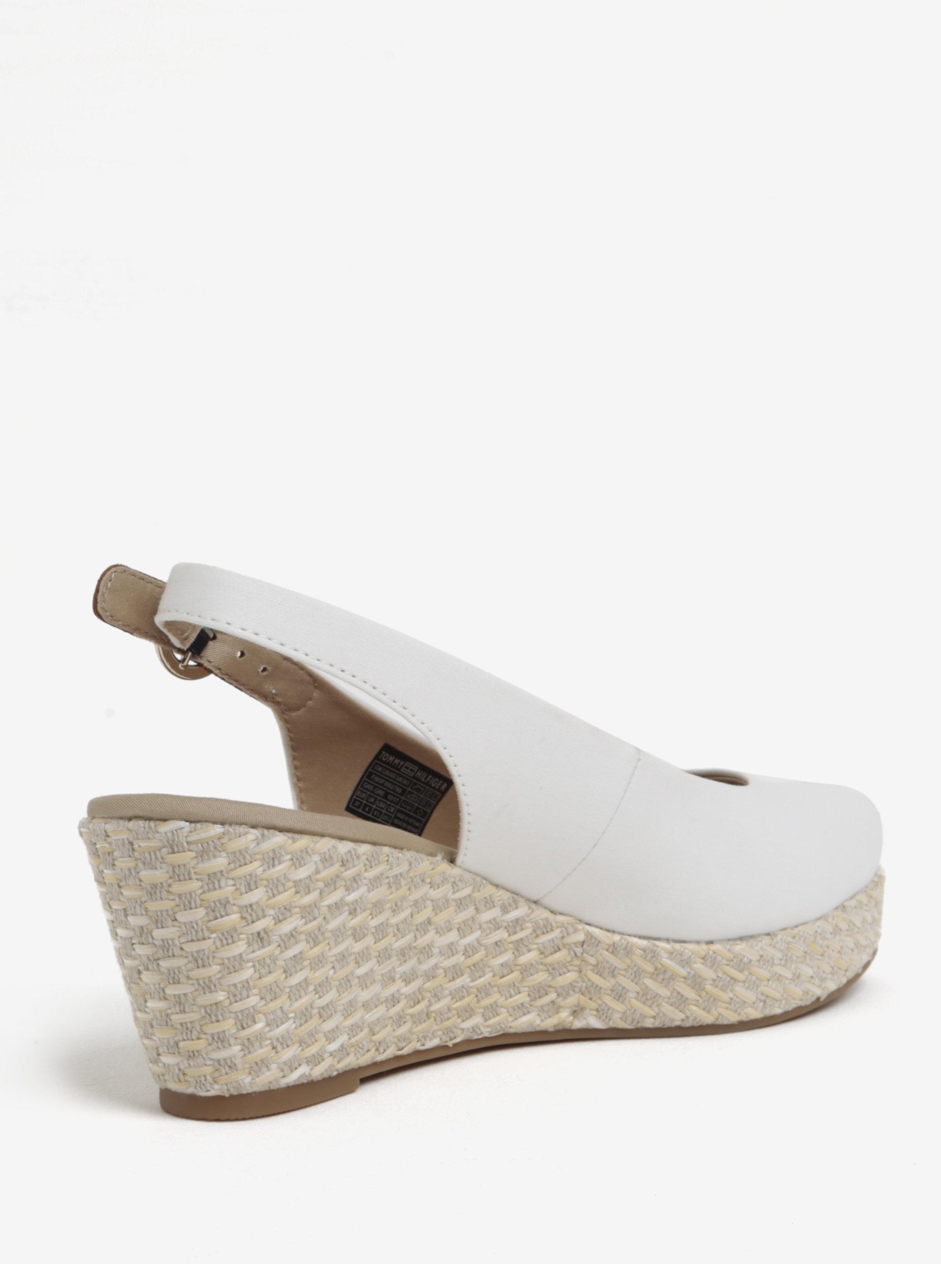 ea9bf6aa075a Bílé dámské sandály na klínku Tommy Hilfiger ...