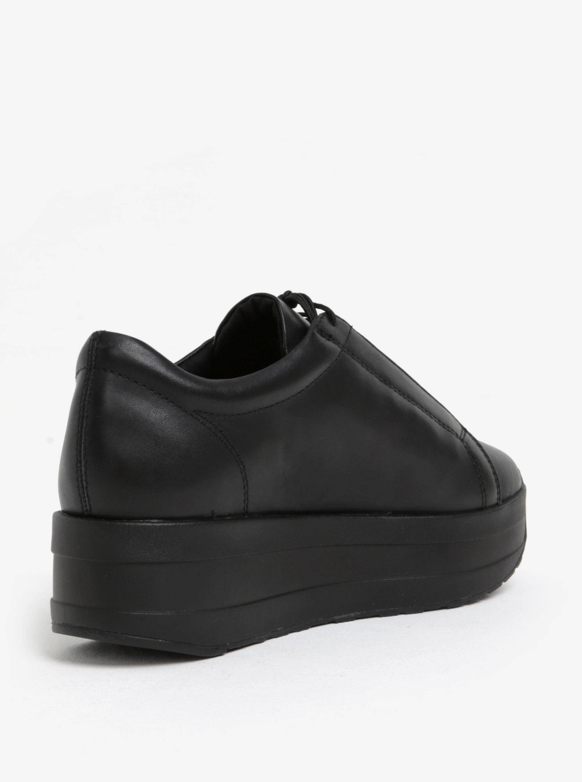 Čierne dámske kožené tenisky na platforme Vagabond Casey Sister ... b9e17a0f8bc