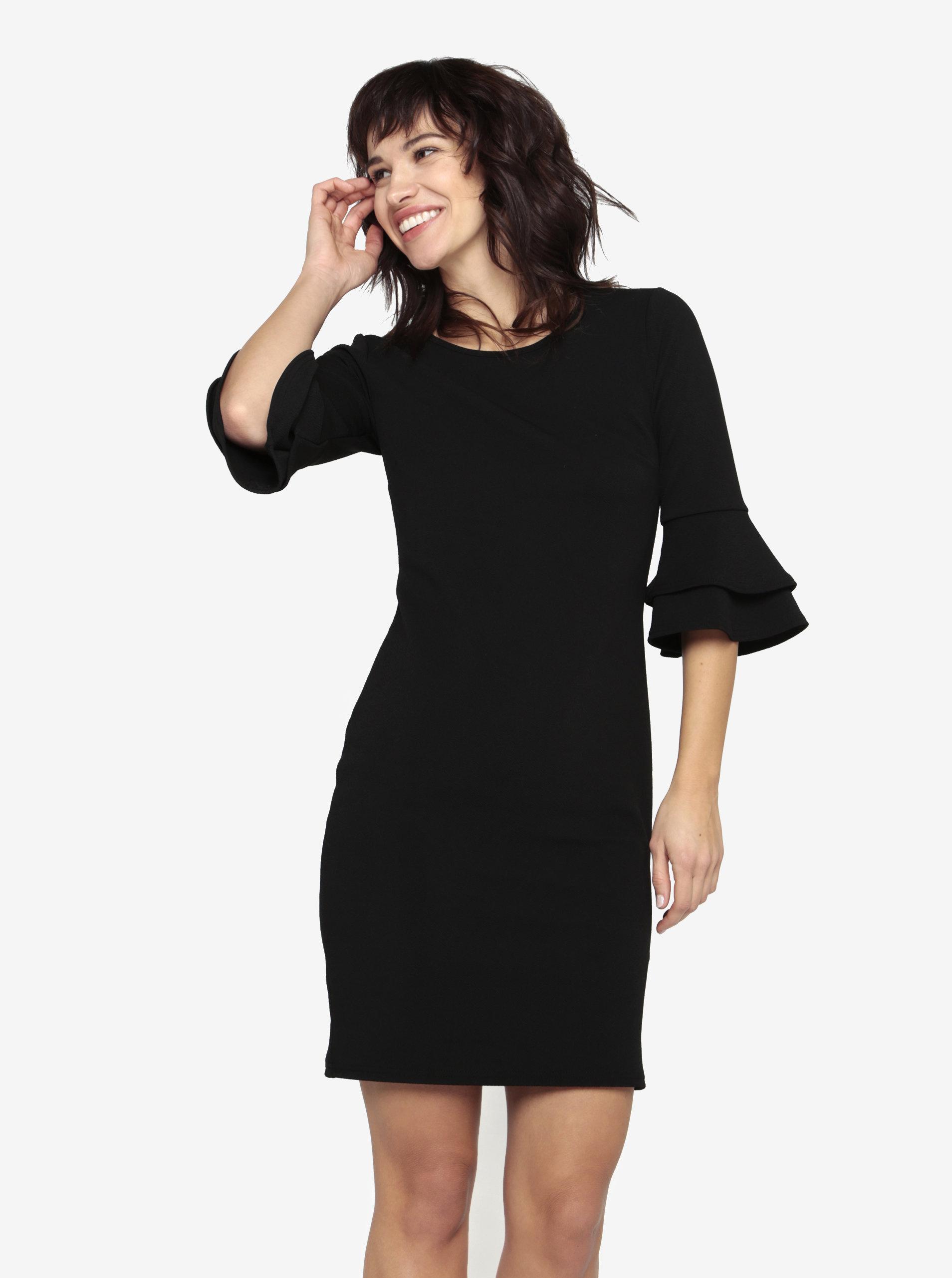 Černé pouzdrové šaty s 3 4 rukávem Dorothy Perkins ... ce7039da41