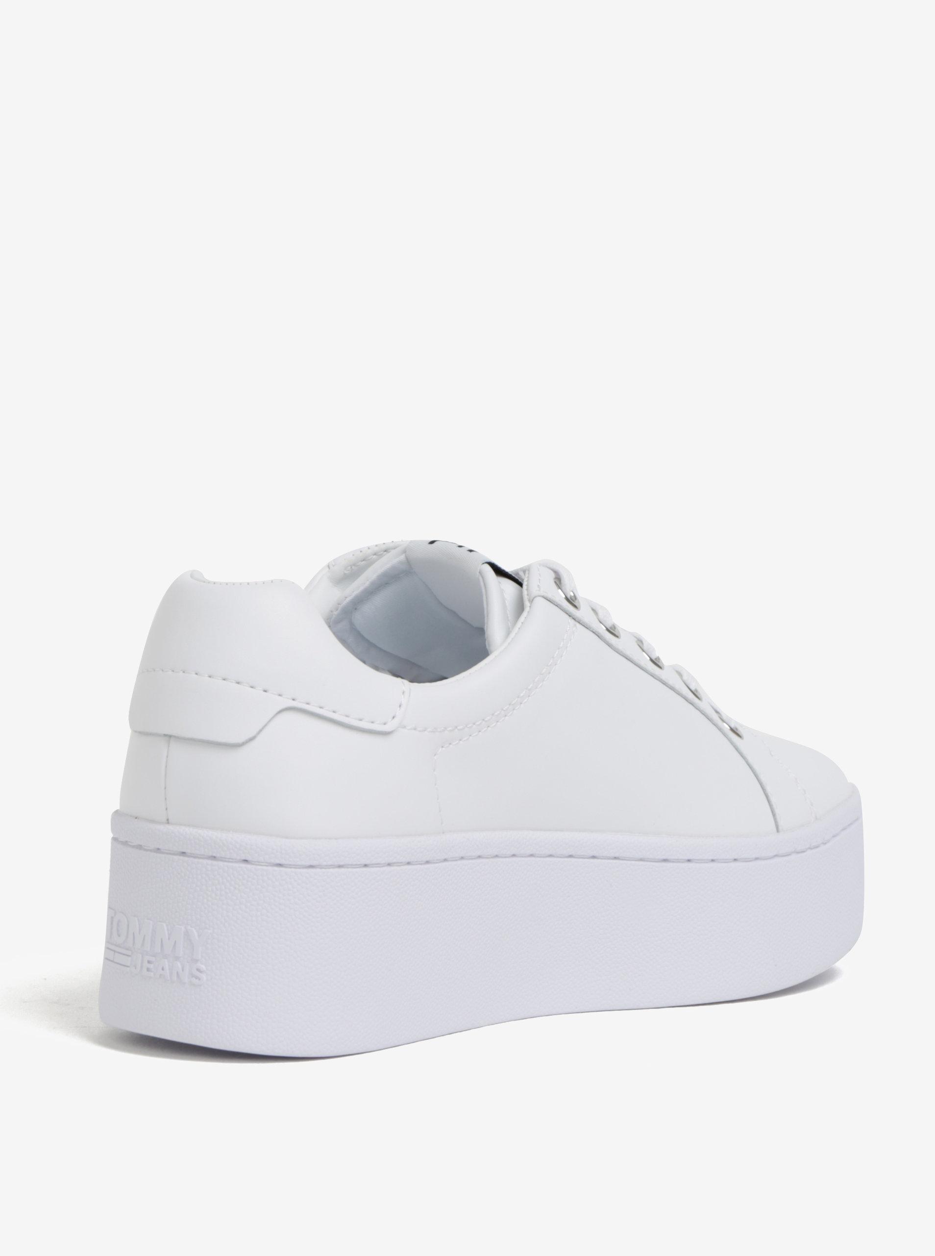 Bílé dámské kožené tenisky na platformě Tommy Hilfiger ... 0b31ca25633