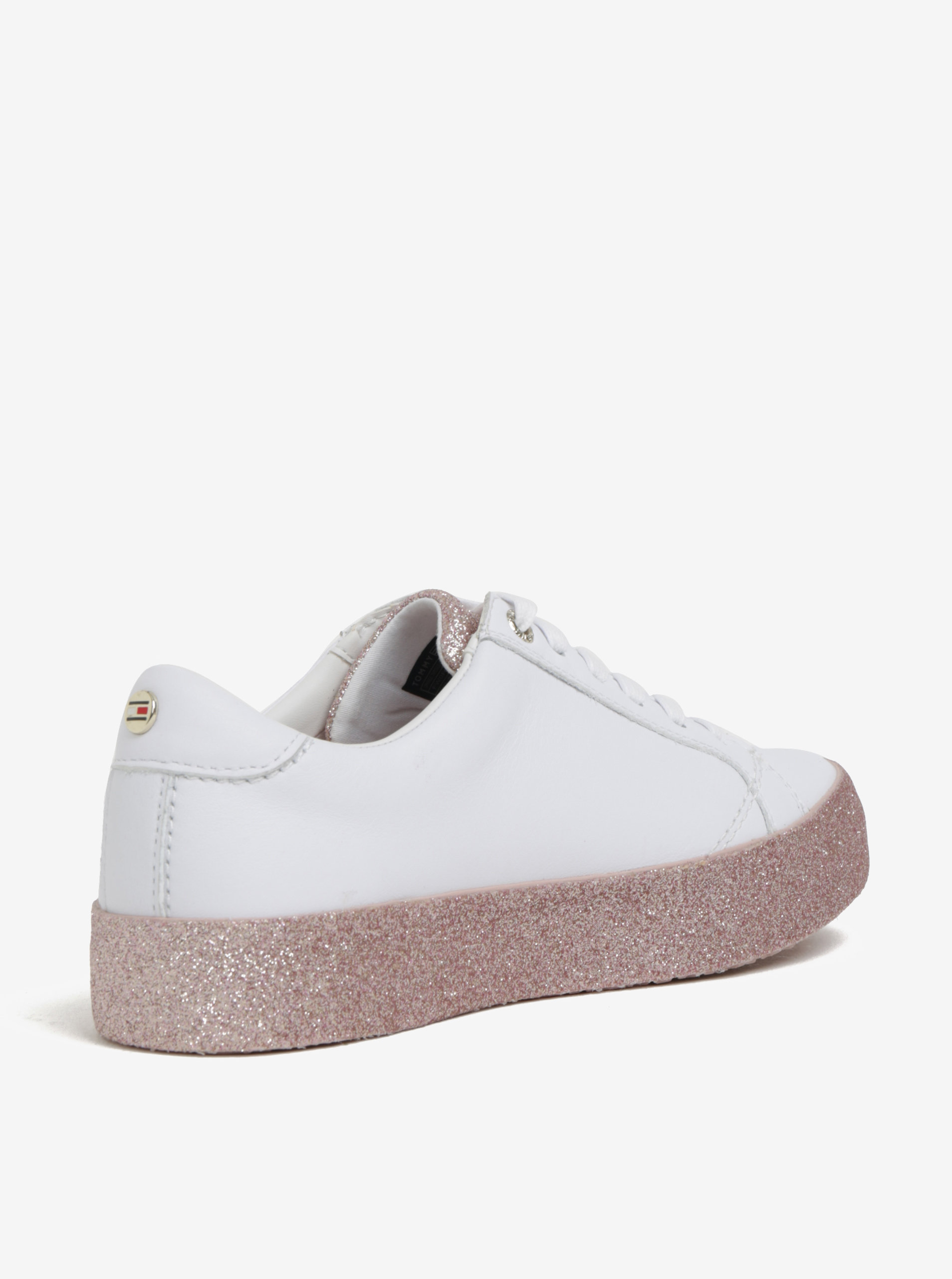 Bílé dámské kožené tenisky na třpytivé platformě Tommy Hilfiger ... 8d7c3fb22cb