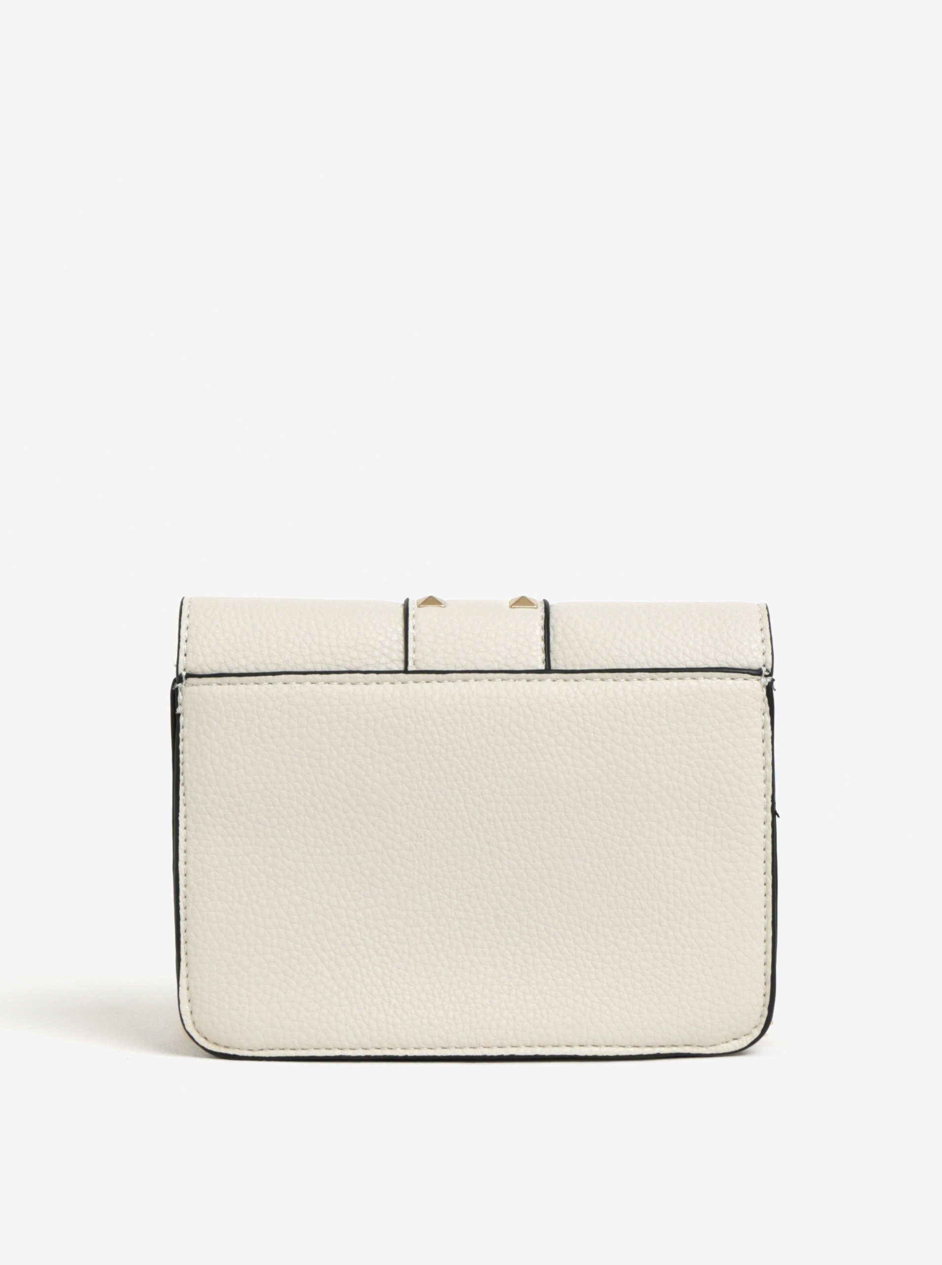 d0e5198a4b Krémová crossbody kabelka s detailmi v zlatej farbe Miss Selfridge ...