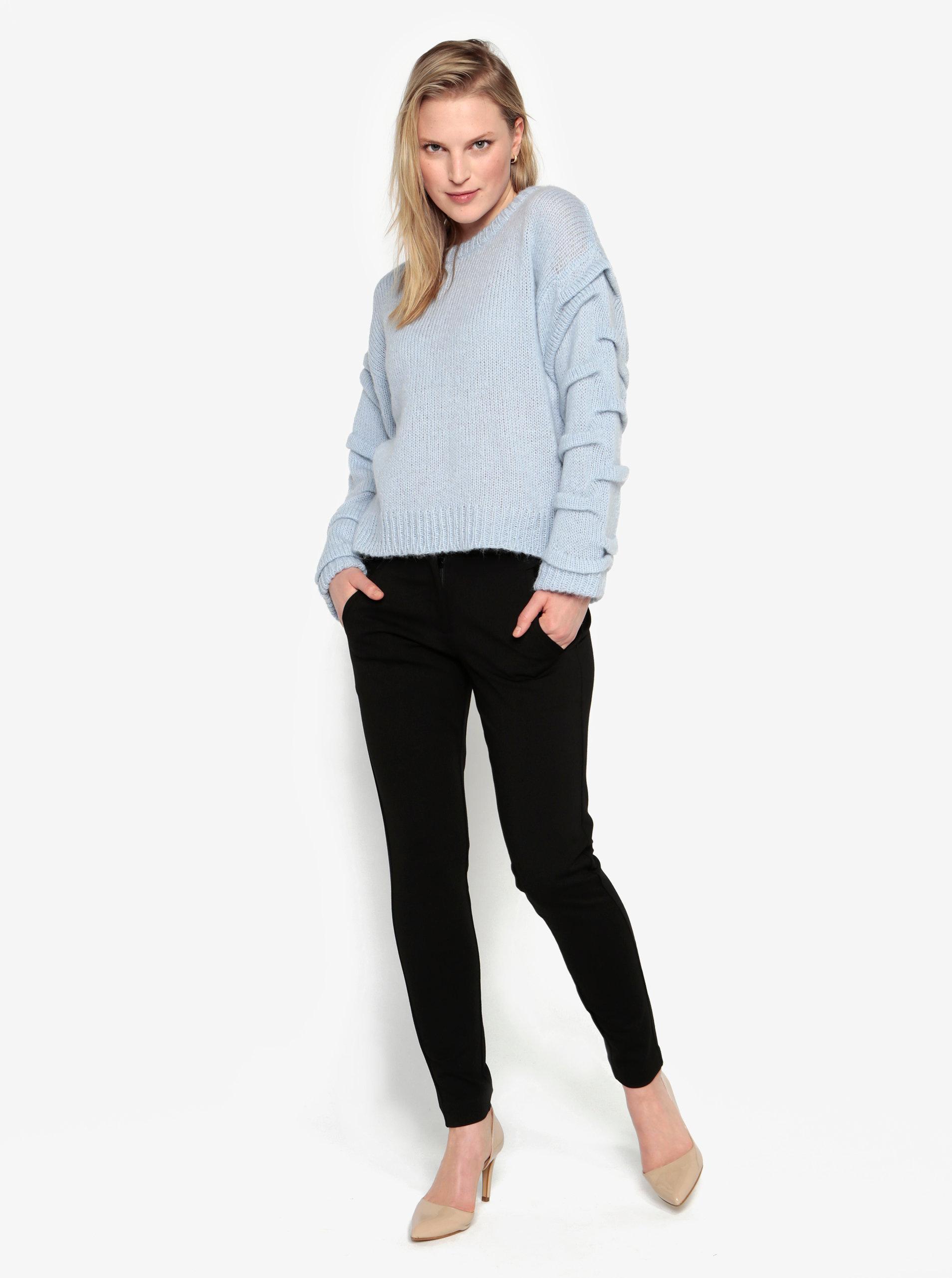 e51504aa7a1 Světle modrý svetr s příměsí vlny z alpaky Selected Femme Olivia ...