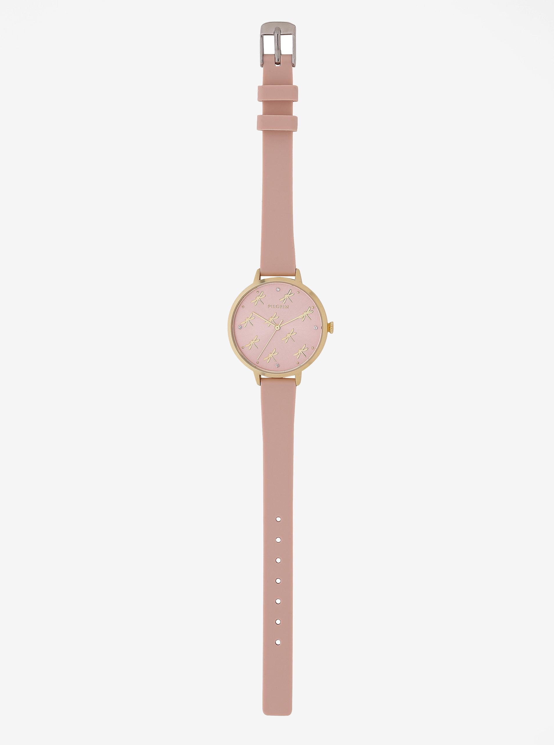 022b5f0d3 Dámske pozlátené hodinky s telovým silikónovým remienkom Pilgrim Babette ...