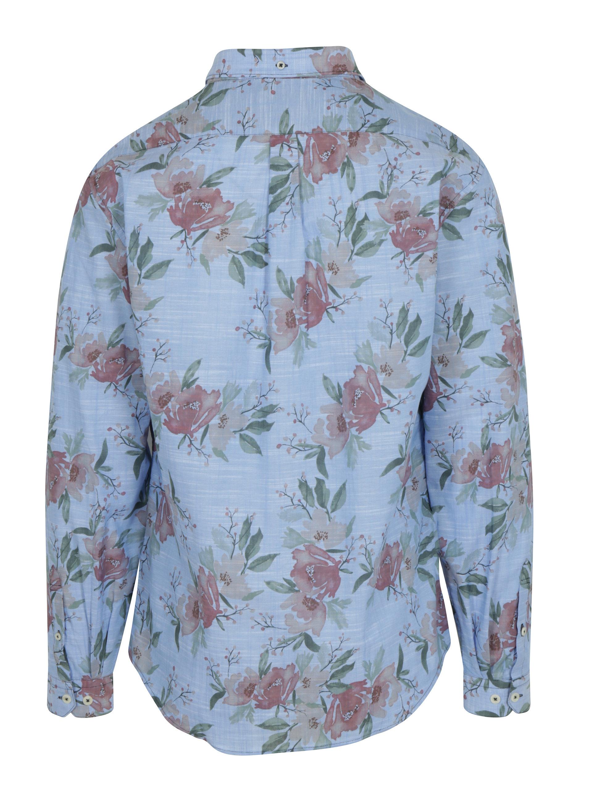 Modrá květovaná košile Lindbergh ... b8df8b1aec