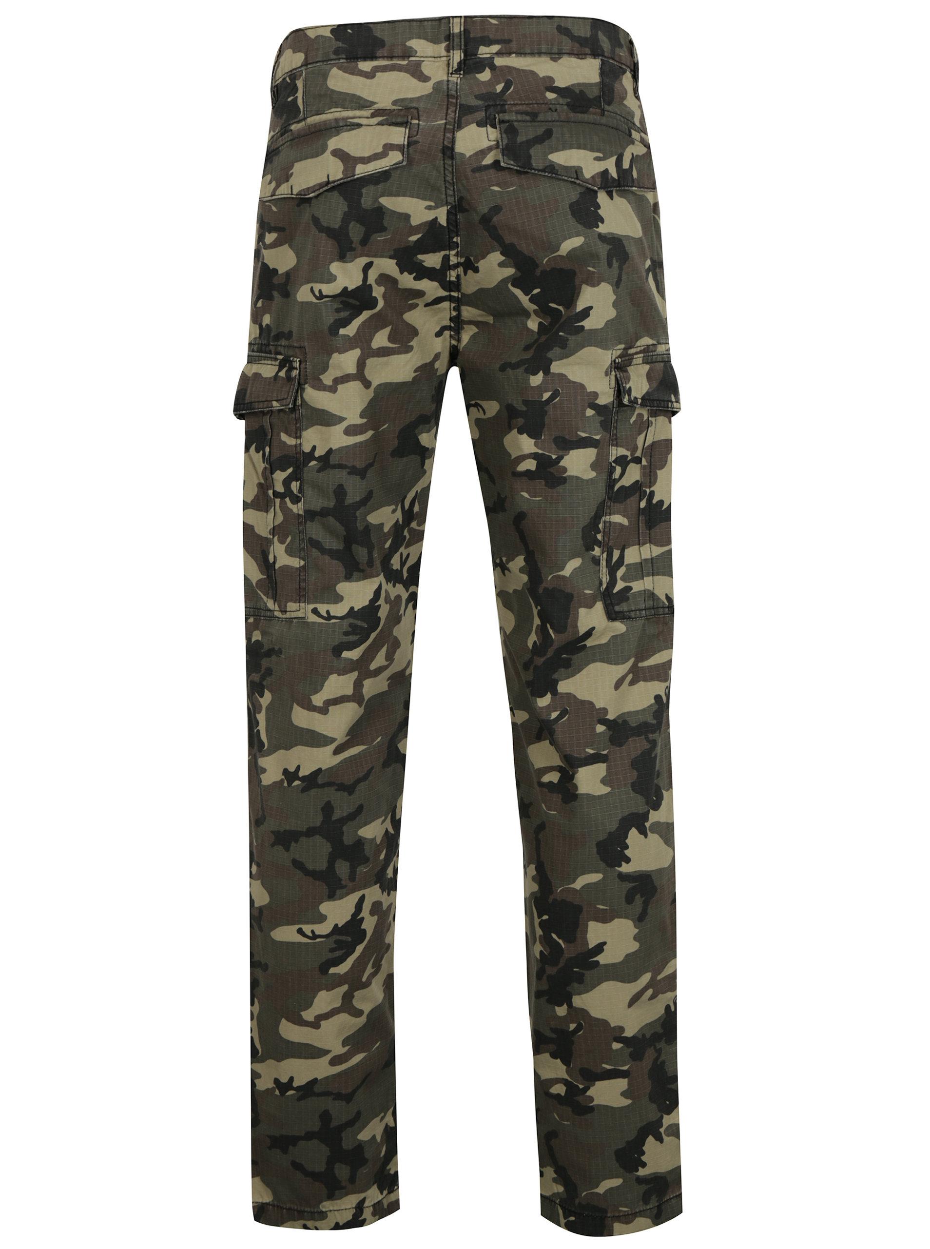 a44f7206fe7 Zelené maskáčové kalhoty s kapsami Shine Original Zelené maskáčové kalhoty  s kapsami Shine Original ...