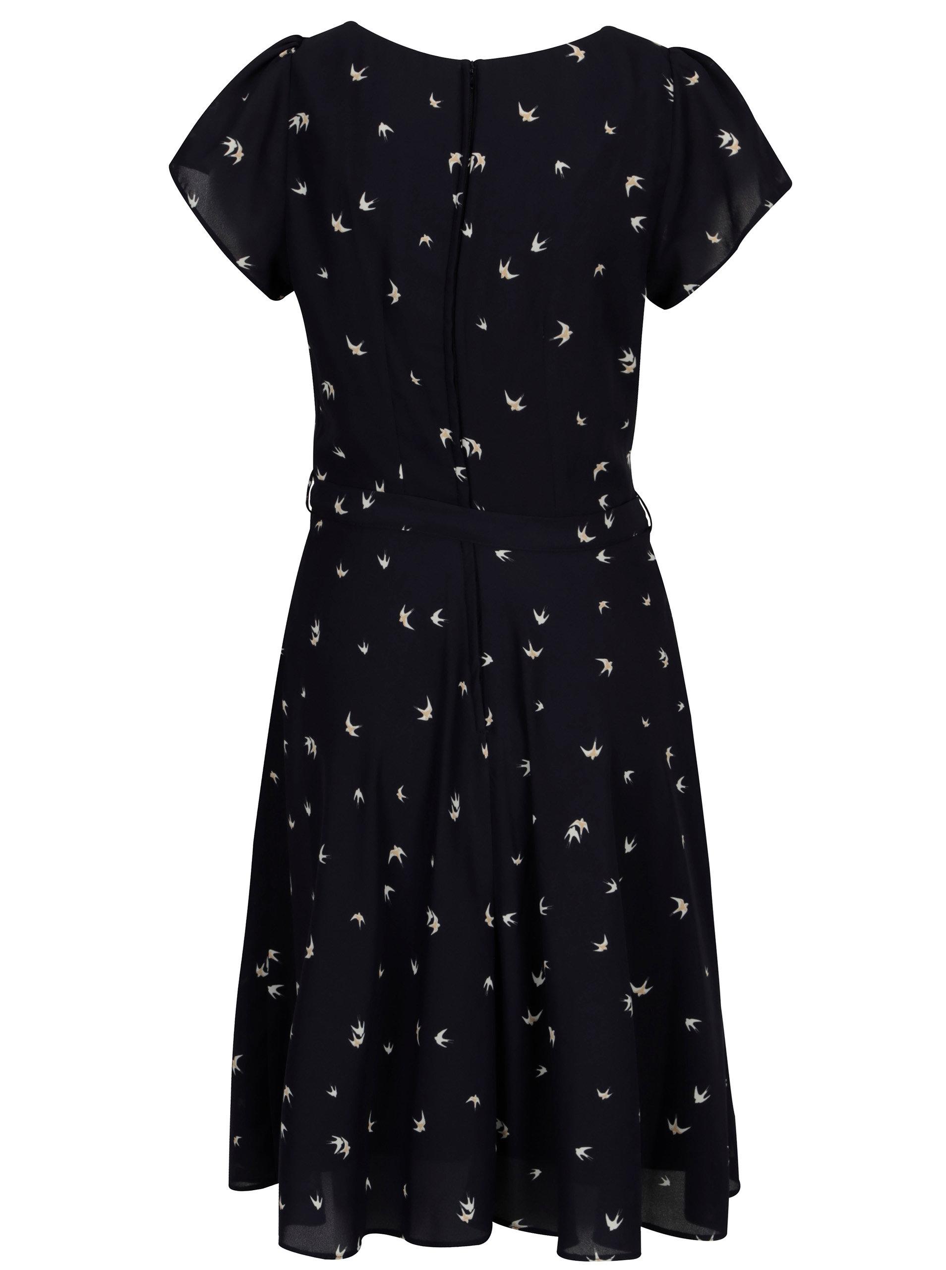 aee884fe8dcd Tmavomodré vzorované šaty Billie   Blossom ...